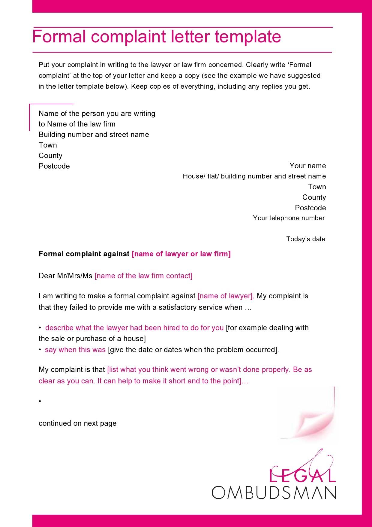 Free legal letter format 06