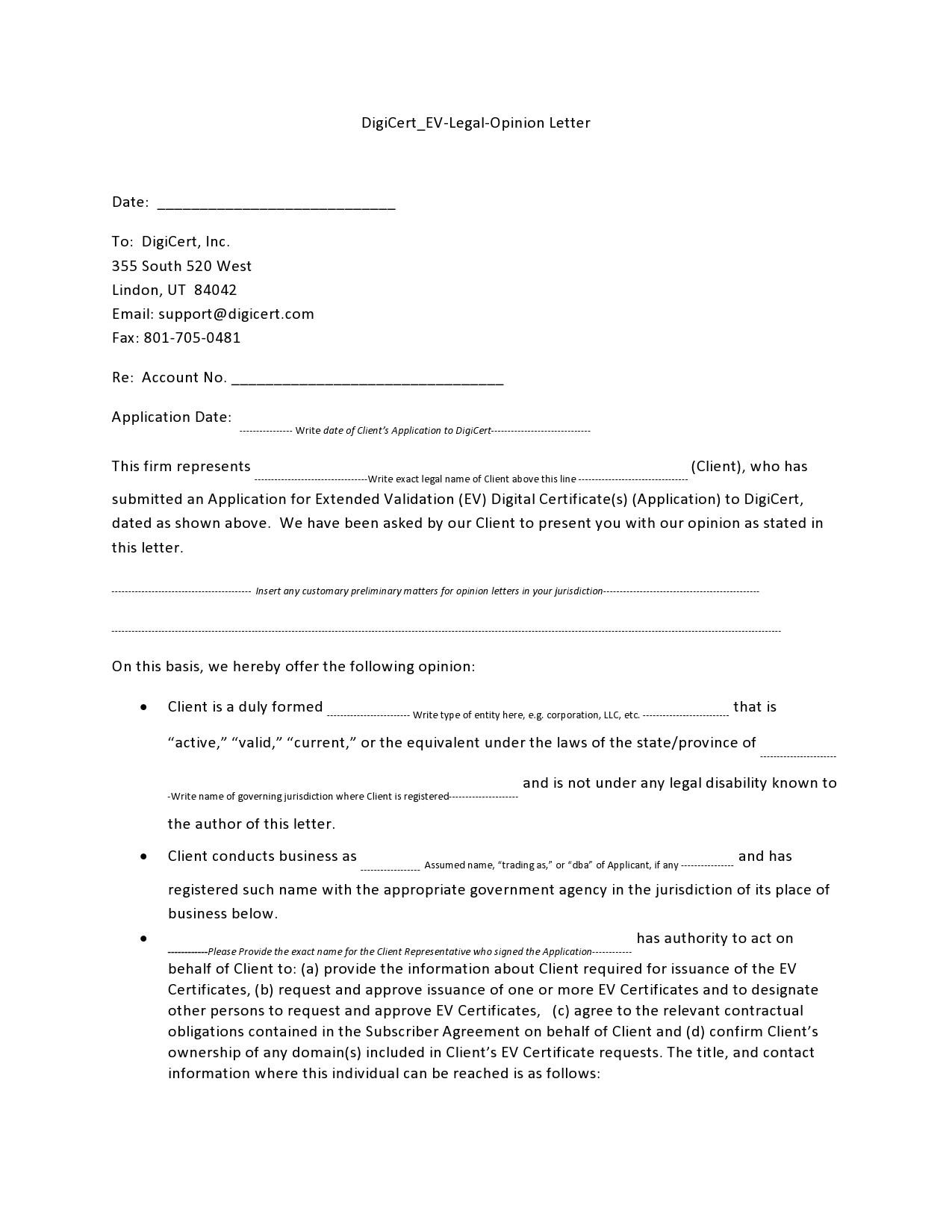 Free legal letter format 11