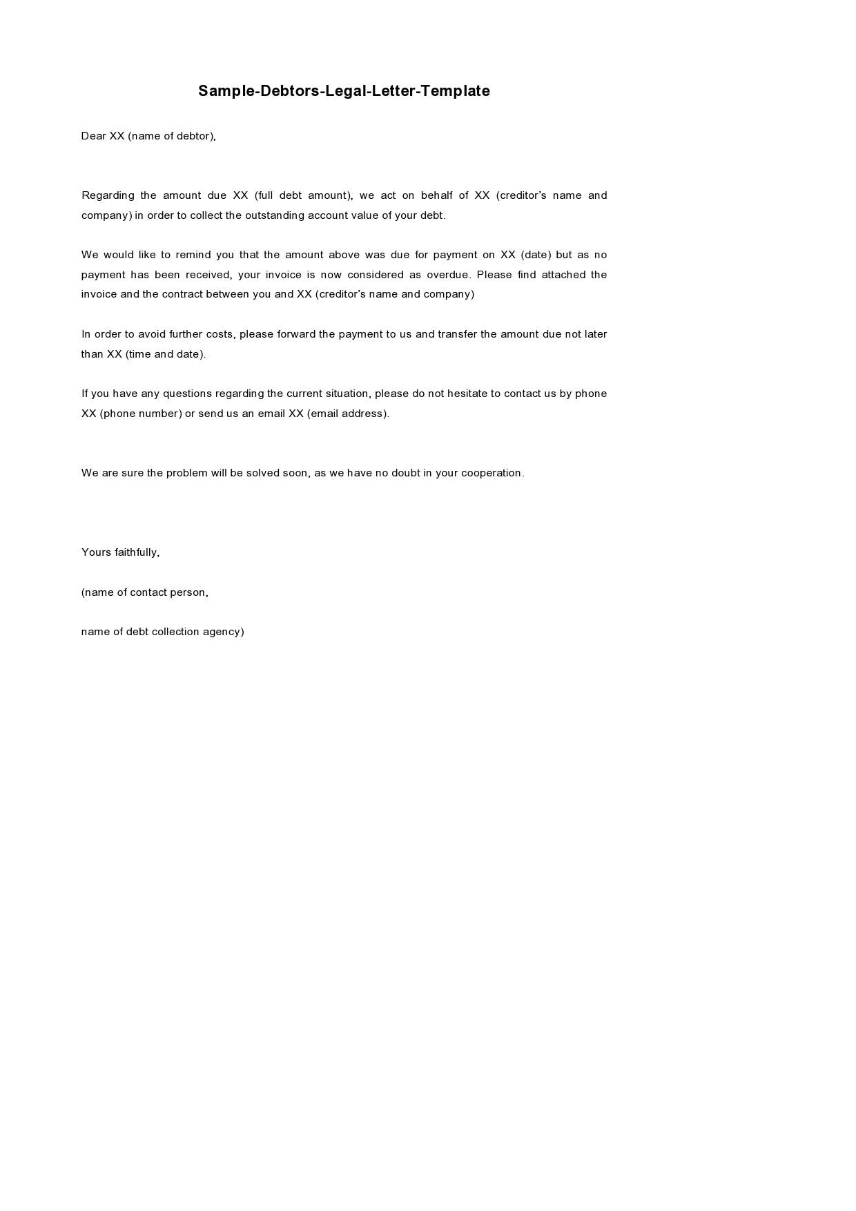 Free legal letter format 12