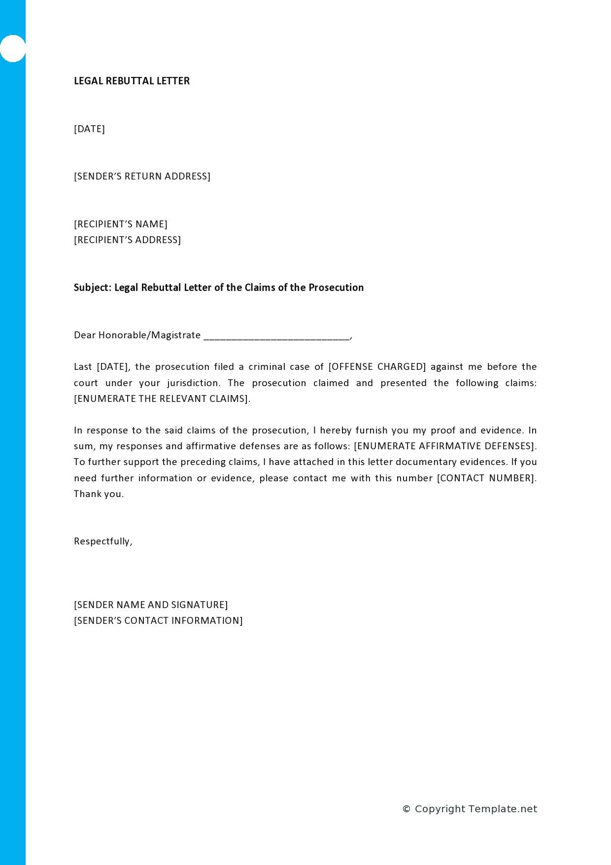 Free legal letter format 22
