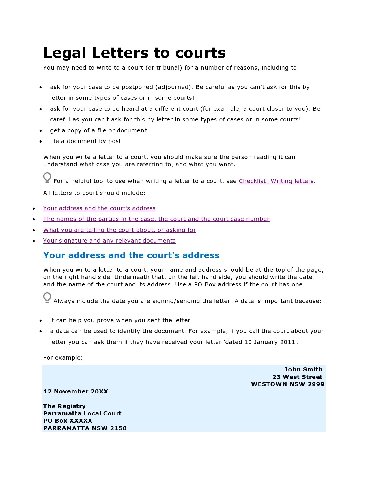 Free legal letter format 25