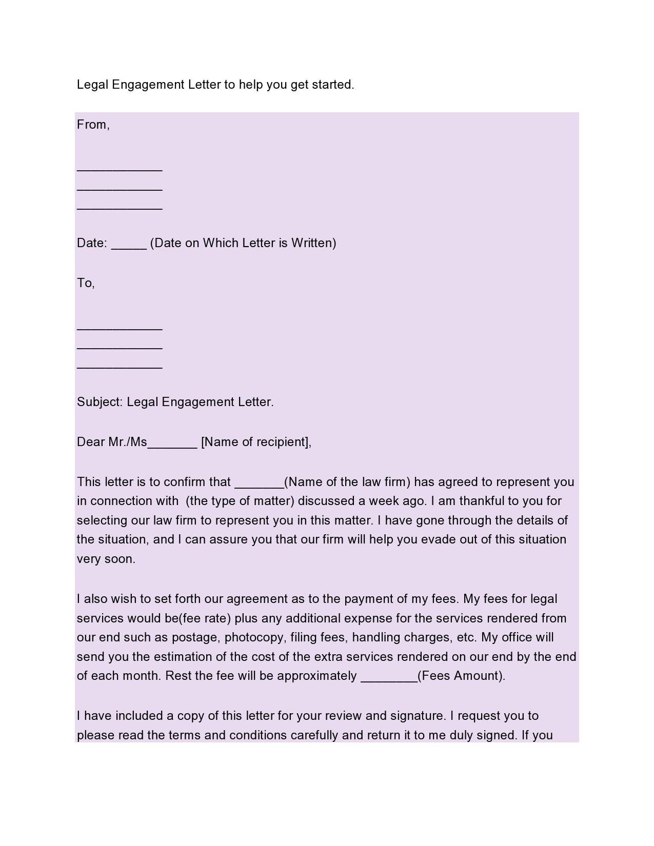 Sample Legal Letter To Client from templatelab.com