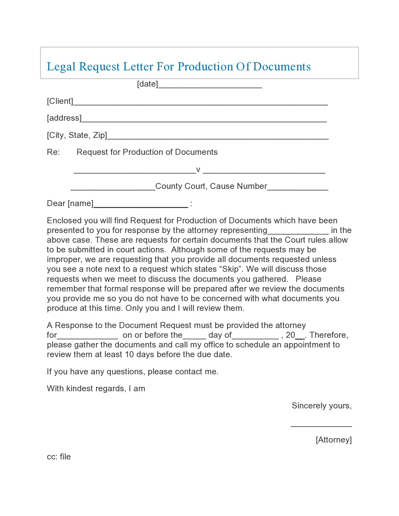 Free legal letter format 37