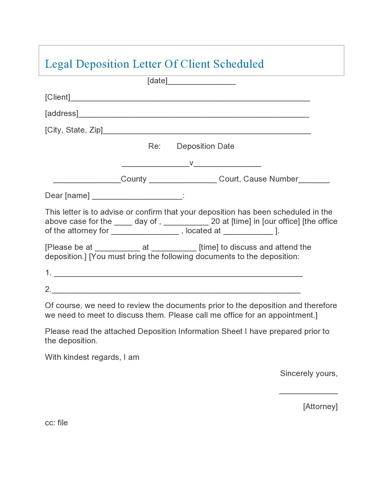 Free legal letter format 38