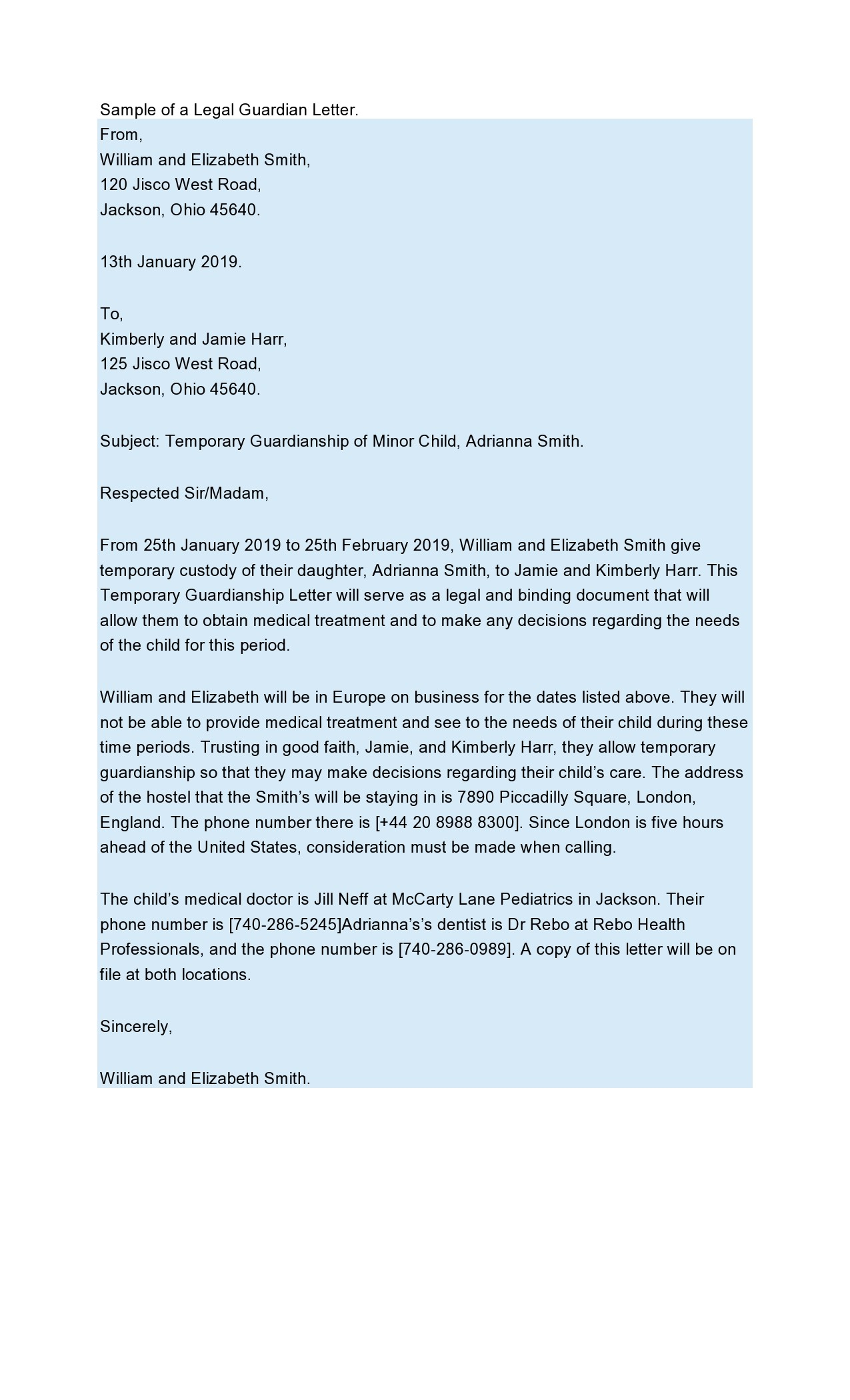 Free legal letter format 43