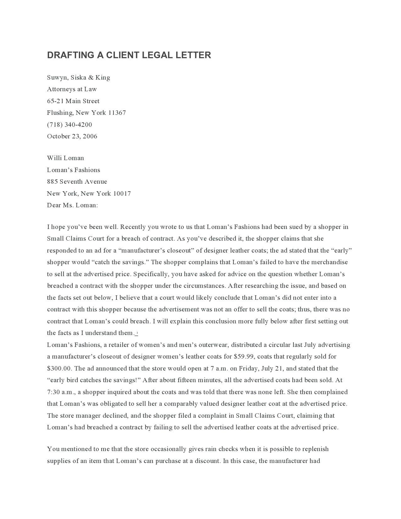 Free legal letter format 44