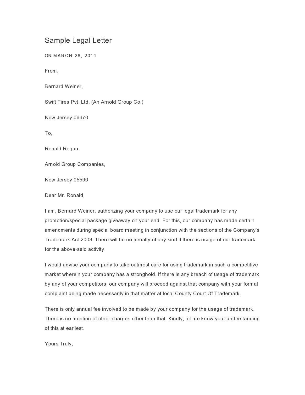 Free legal letter format 47