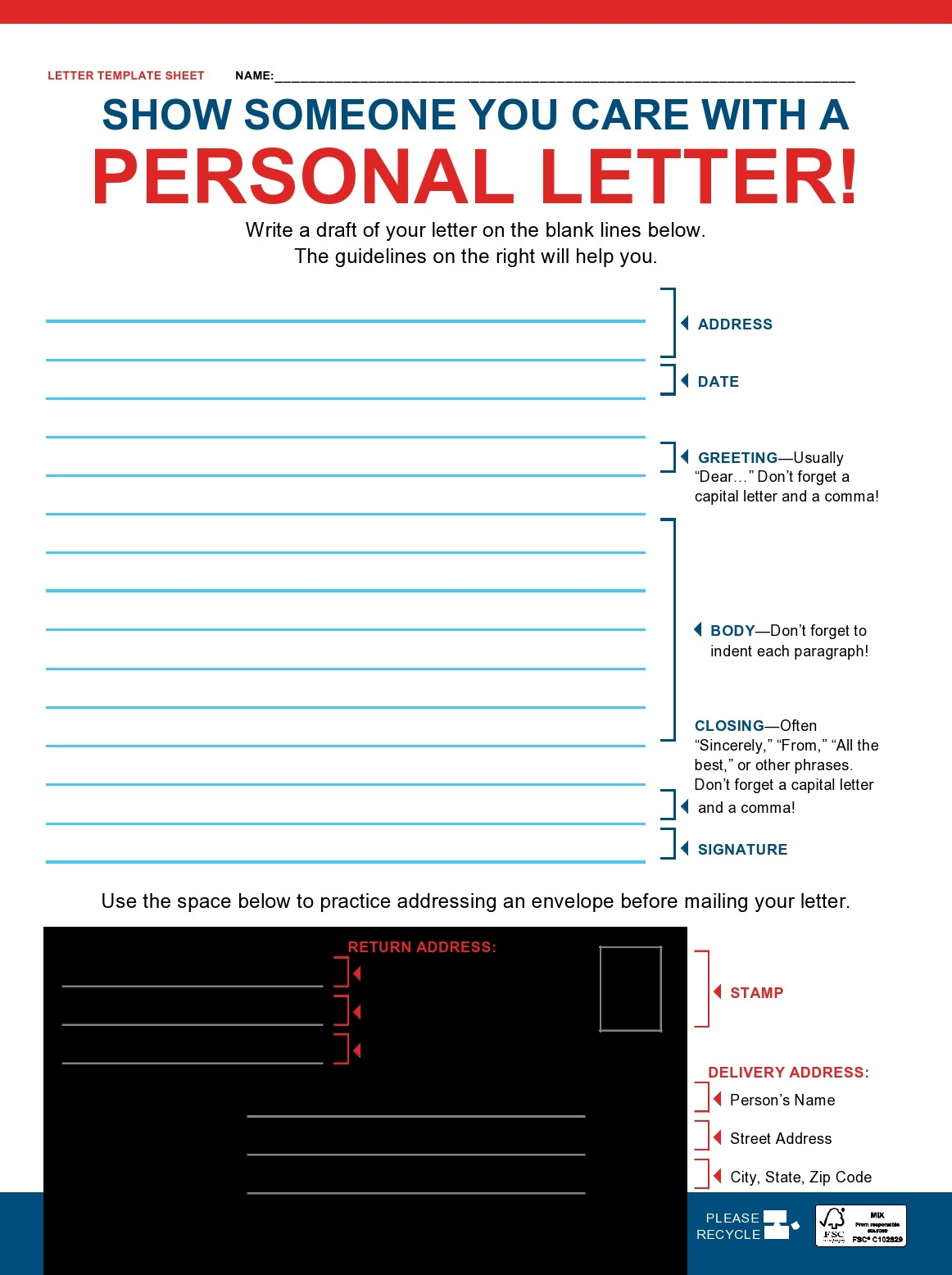 Free personal letter format 16
