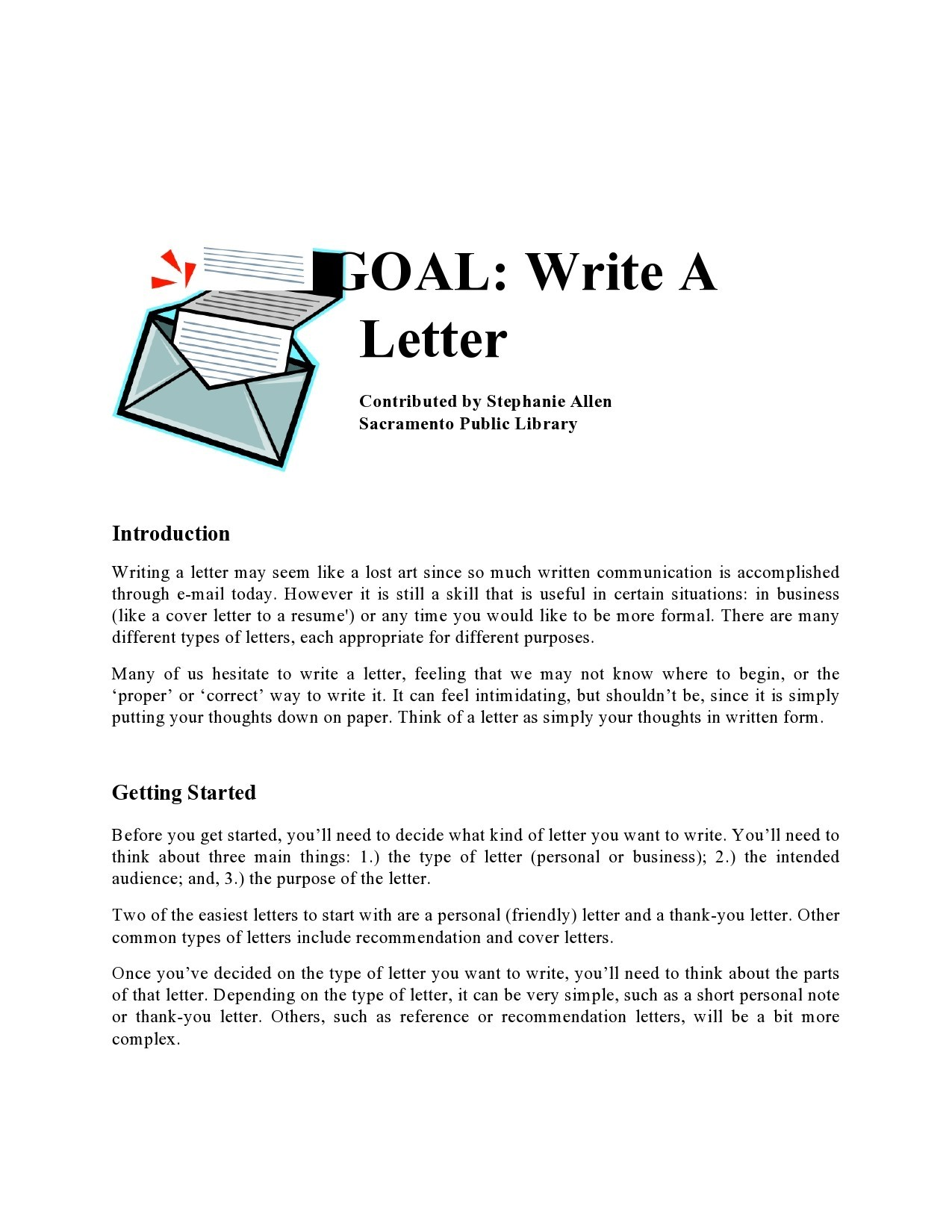 Free personal letter format 24