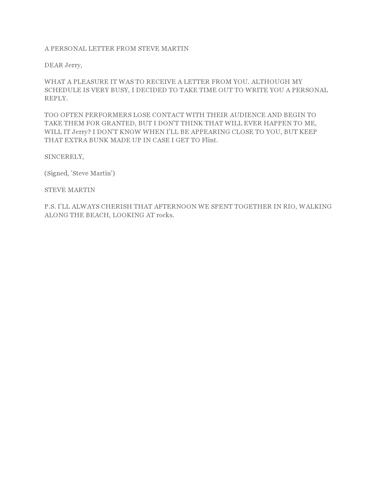 Free personal letter format 26