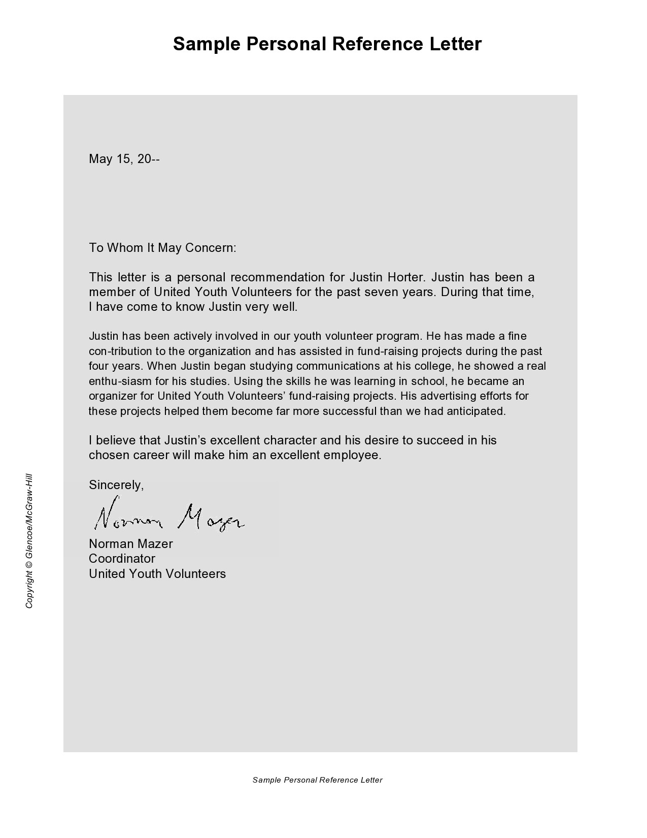 Free personal letter format 39