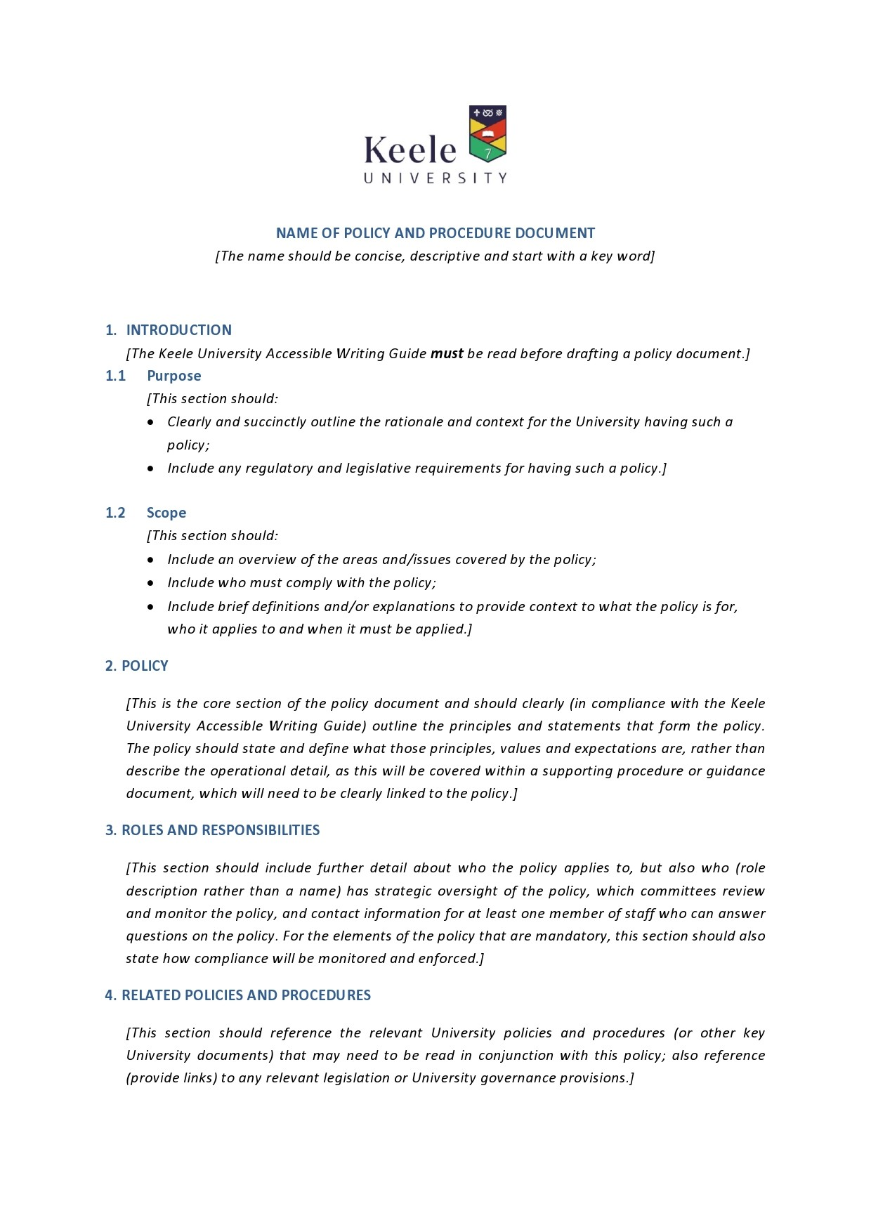 Free policy and procedure template 07