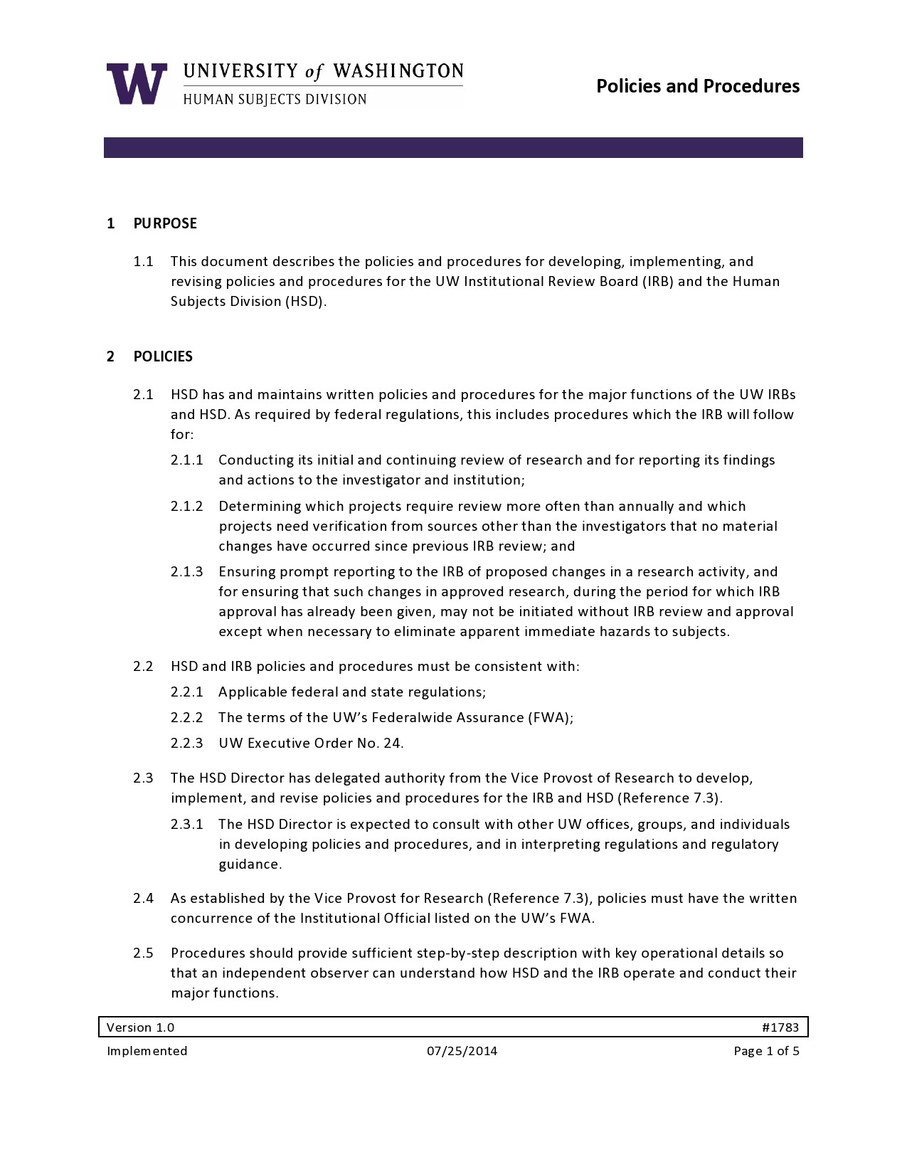 Free policy and procedure template 09
