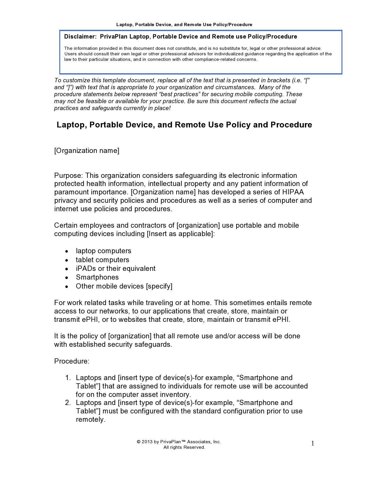 Free policy and procedure template 13