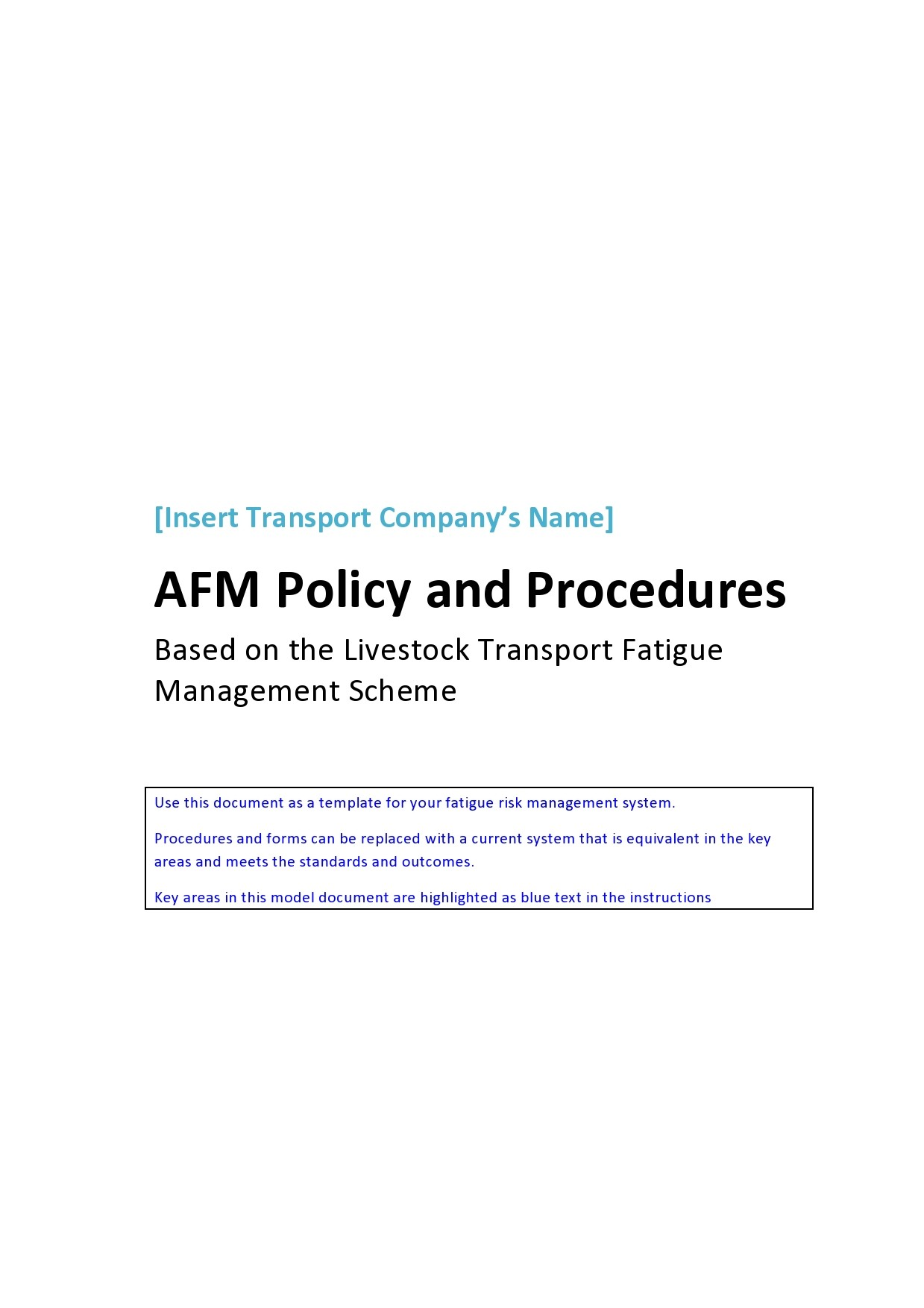 Free policy and procedure template 14