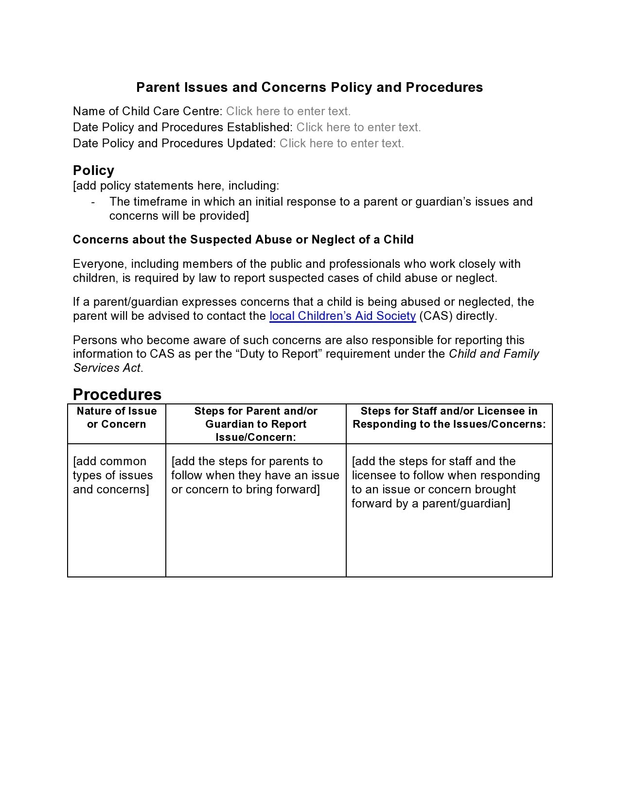 Free policy and procedure template 17