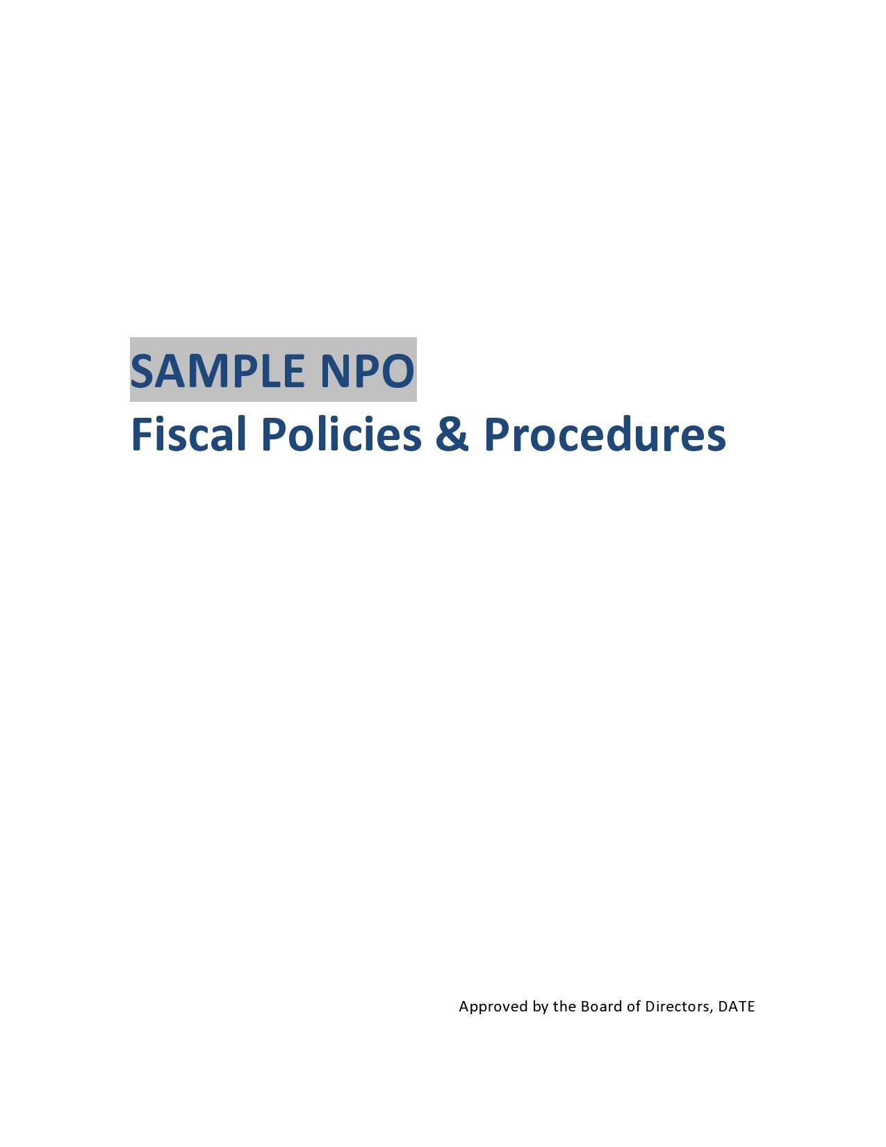 Free policy and procedure template 23
