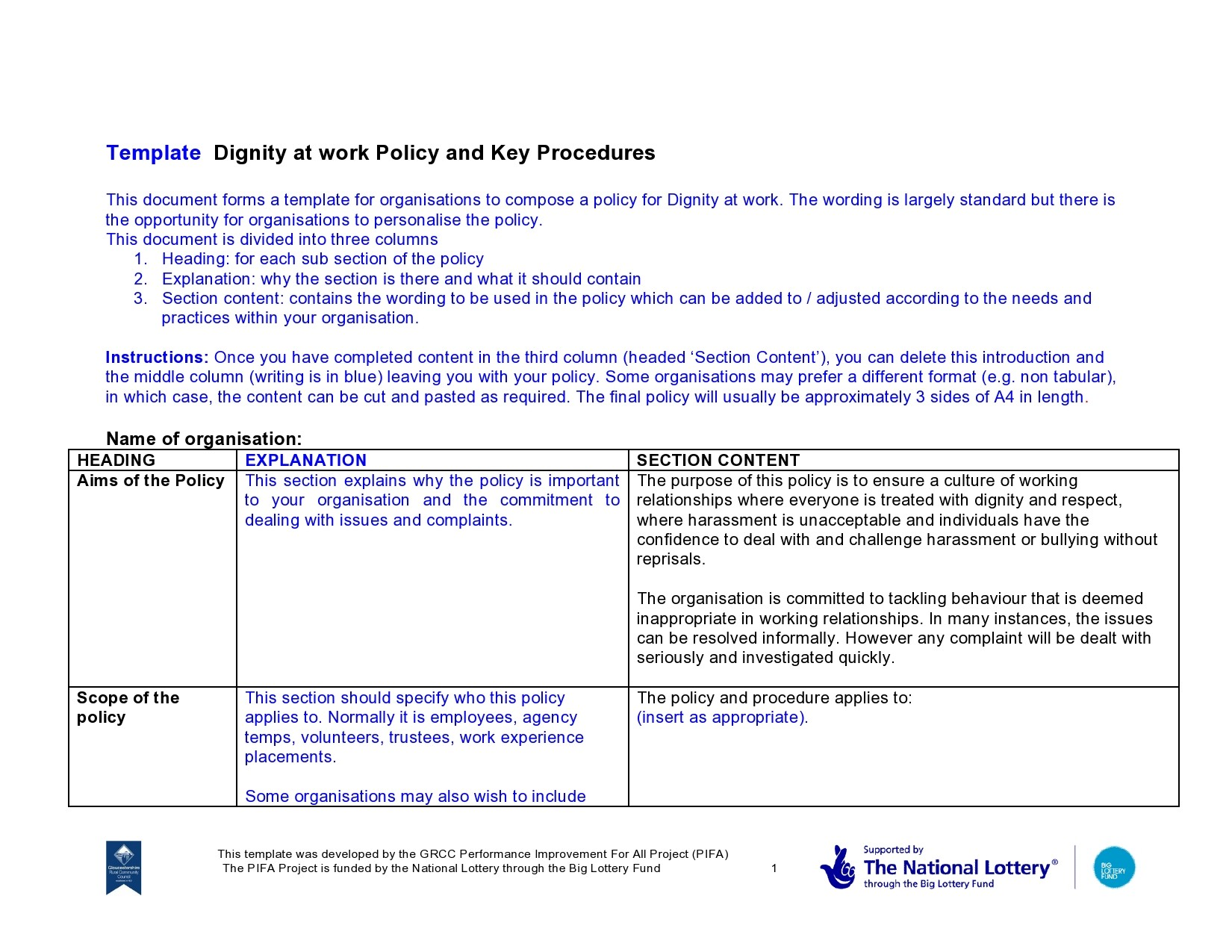 Free policy and procedure template 27