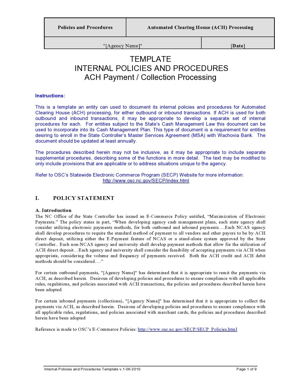 Free policy and procedure template 30