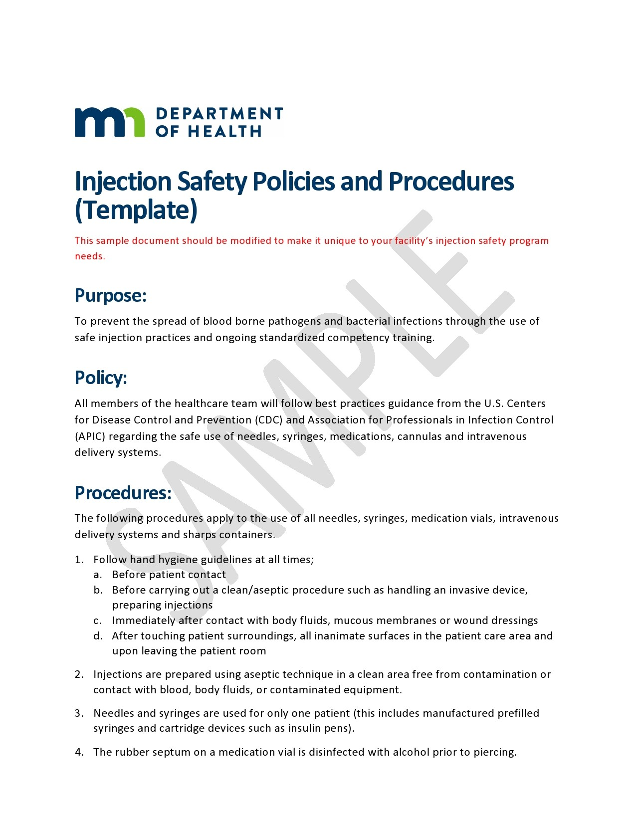 Free policy and procedure template 31