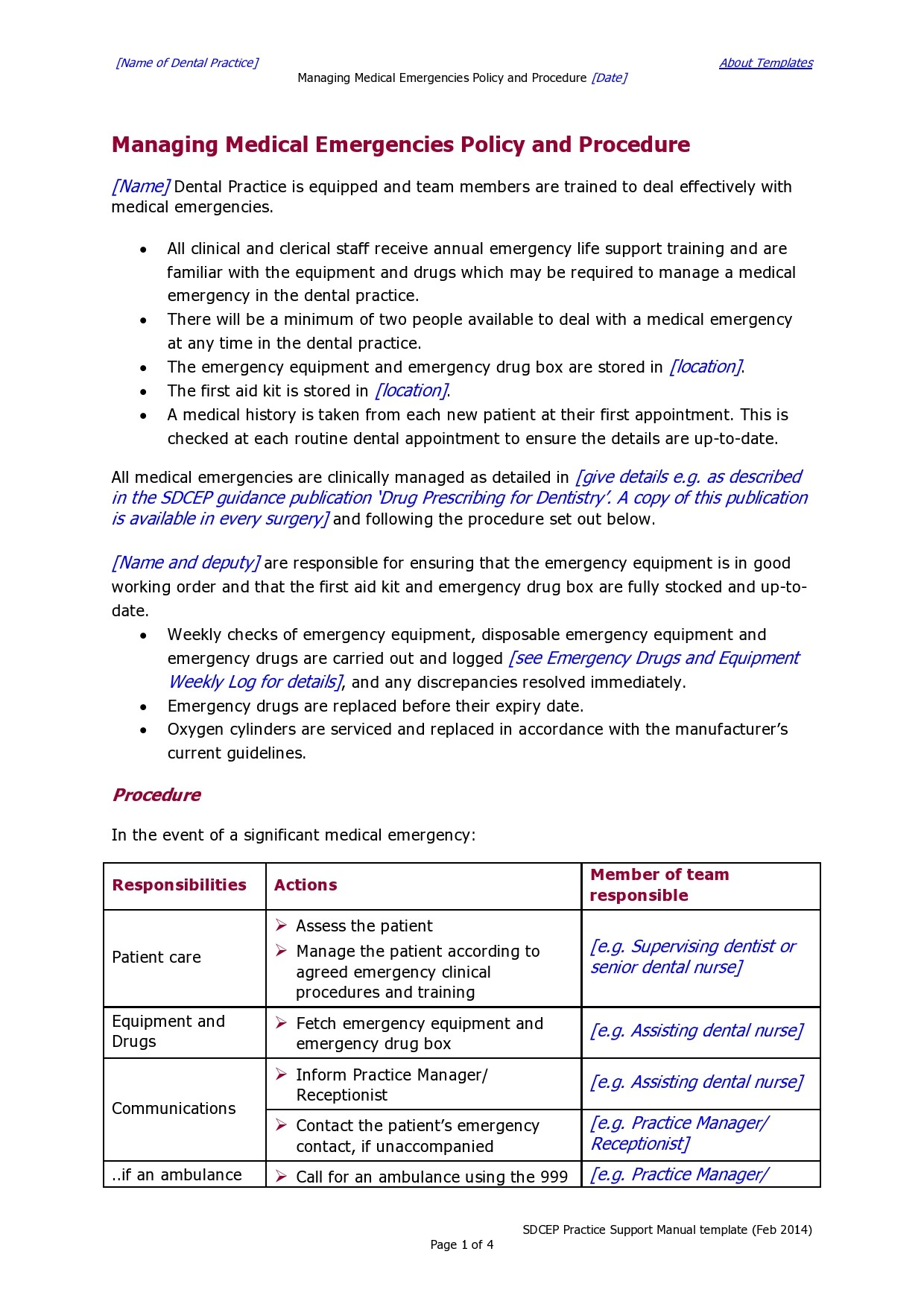 Free policy and procedure template 32