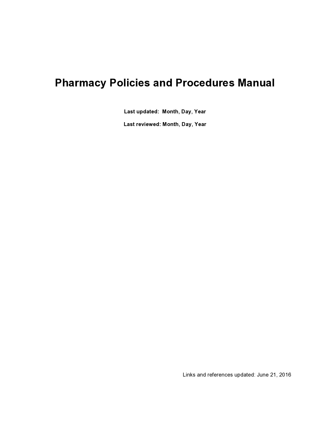 Free policy and procedure template 42