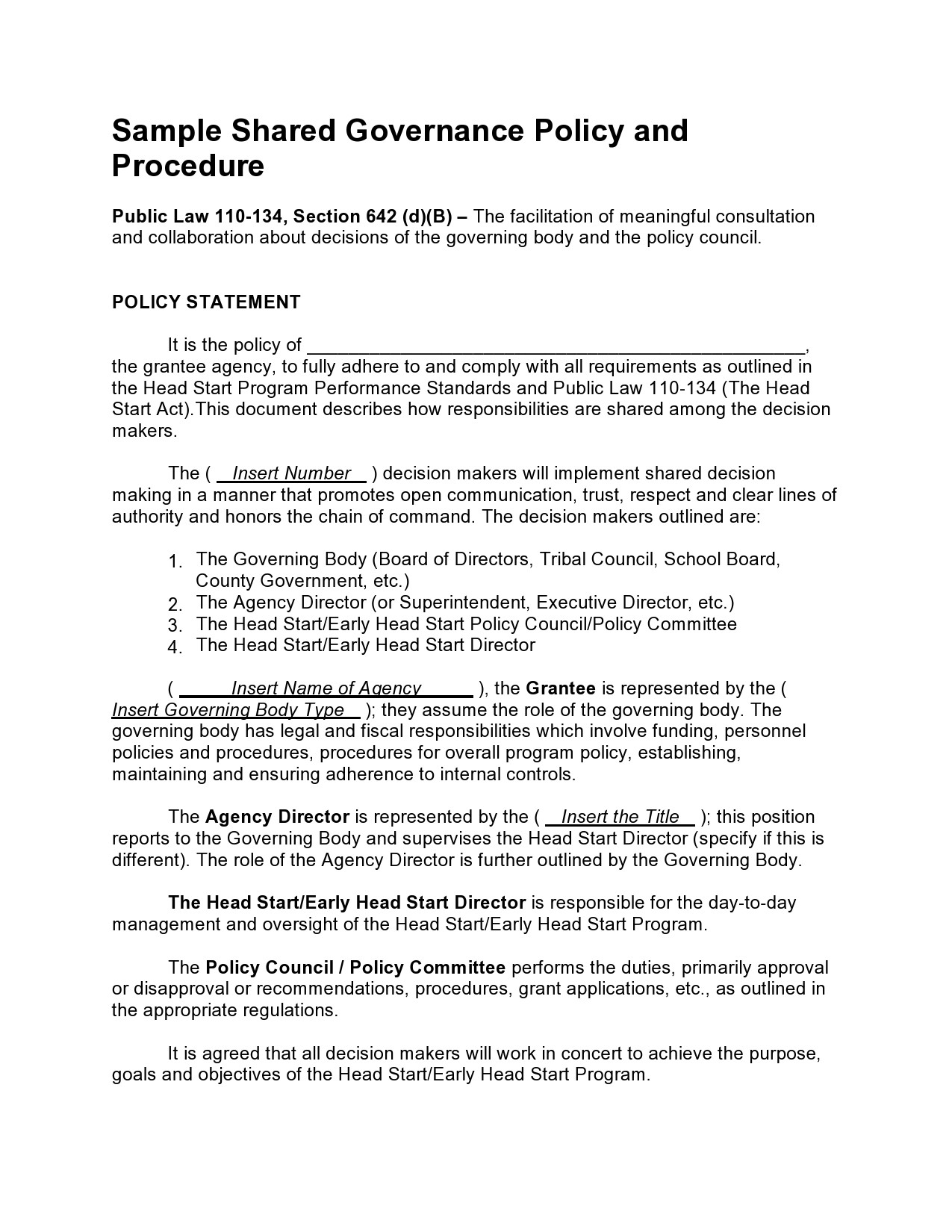 Free policy and procedure template 48