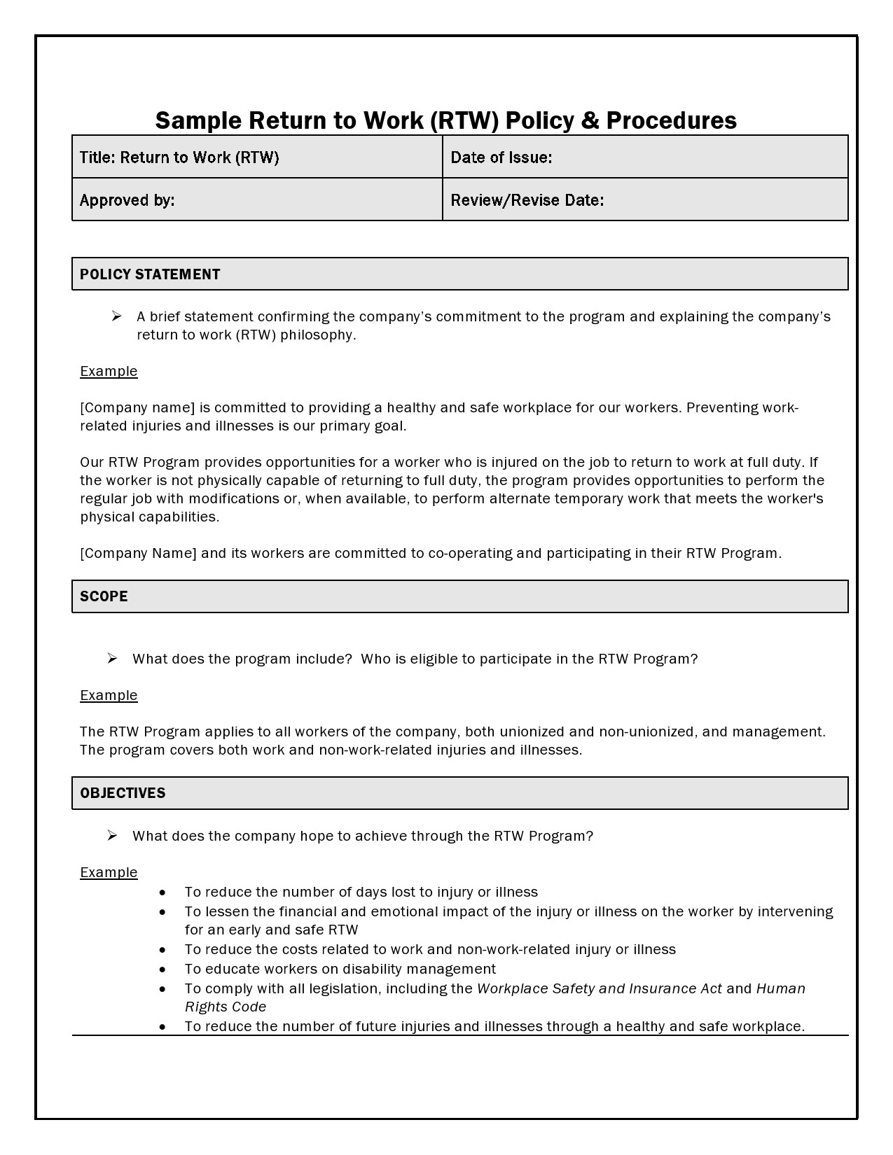 Free policy and procedure template 49