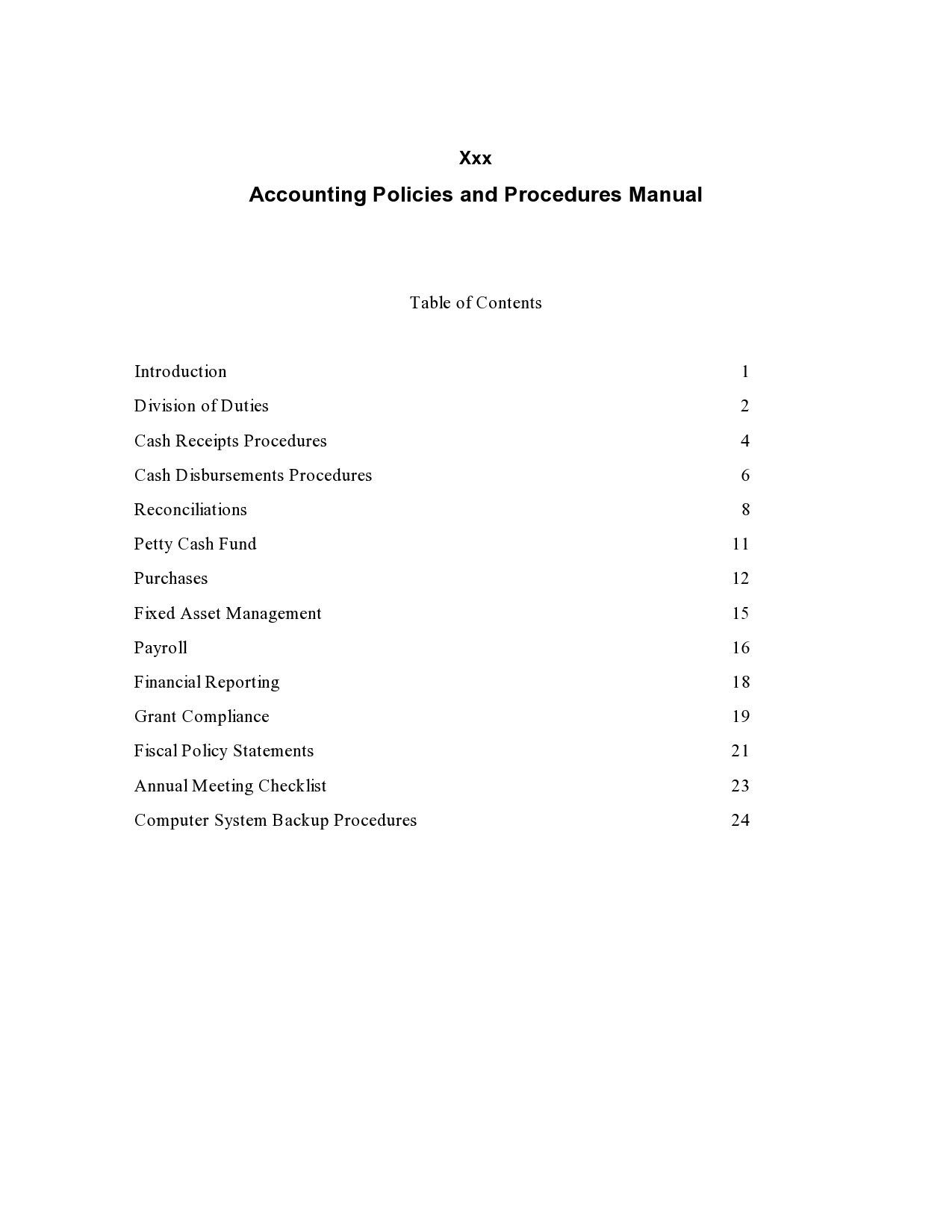 Free policy and procedure template 50
