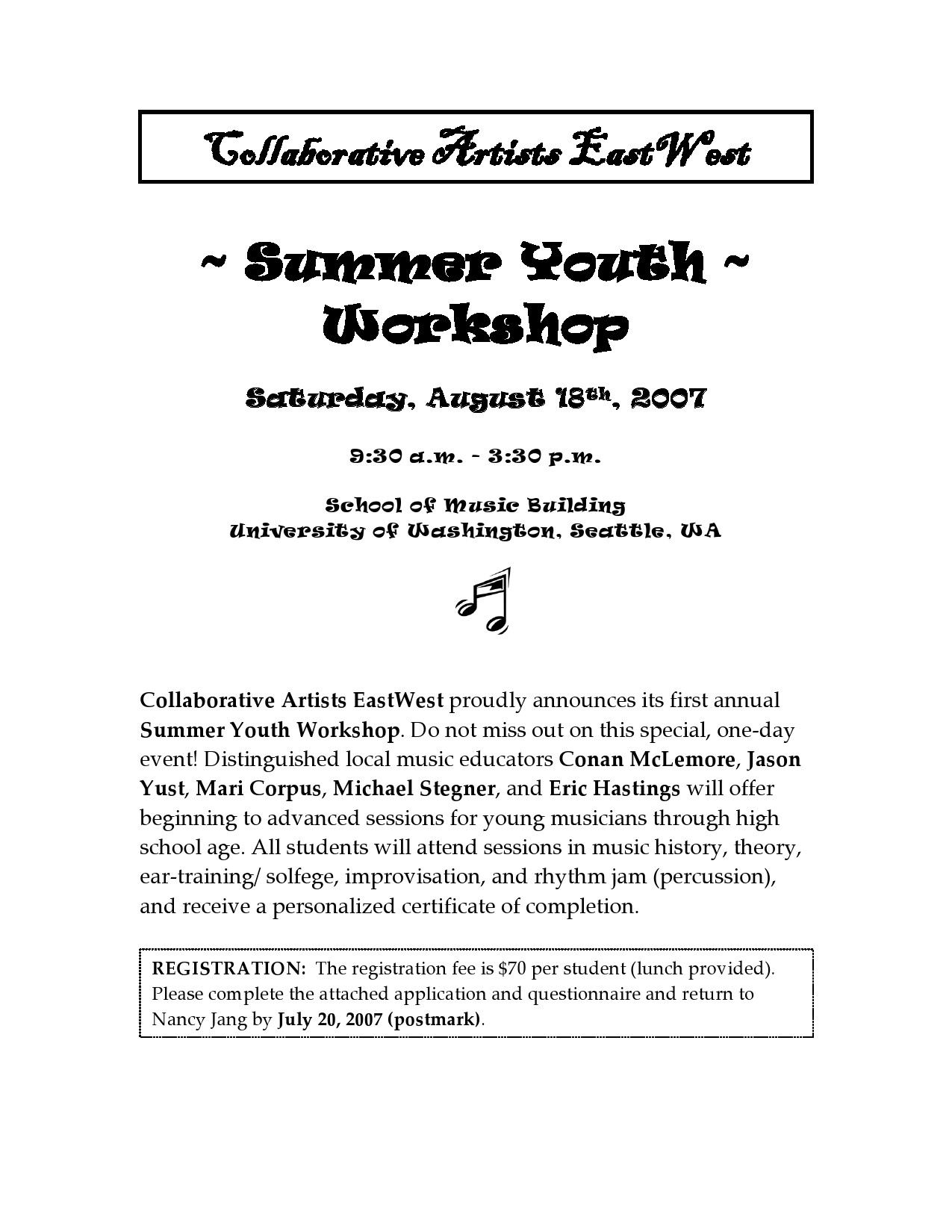 Free summer camp flyer 12