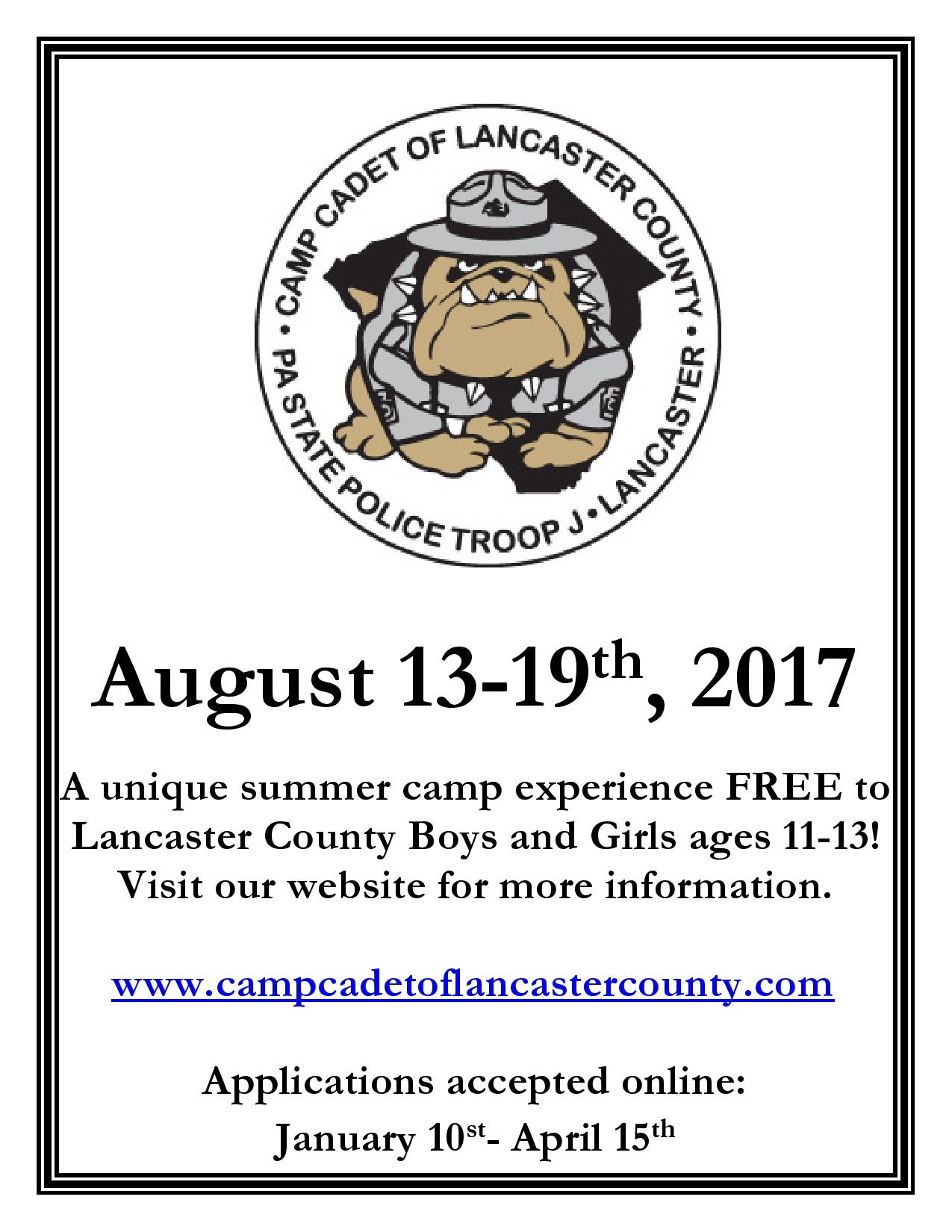 Free summer camp flyer 13