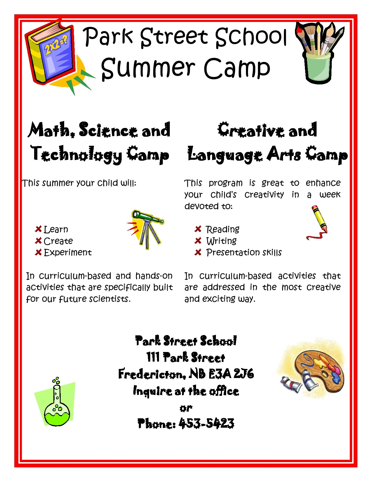 Free summer camp flyer 26