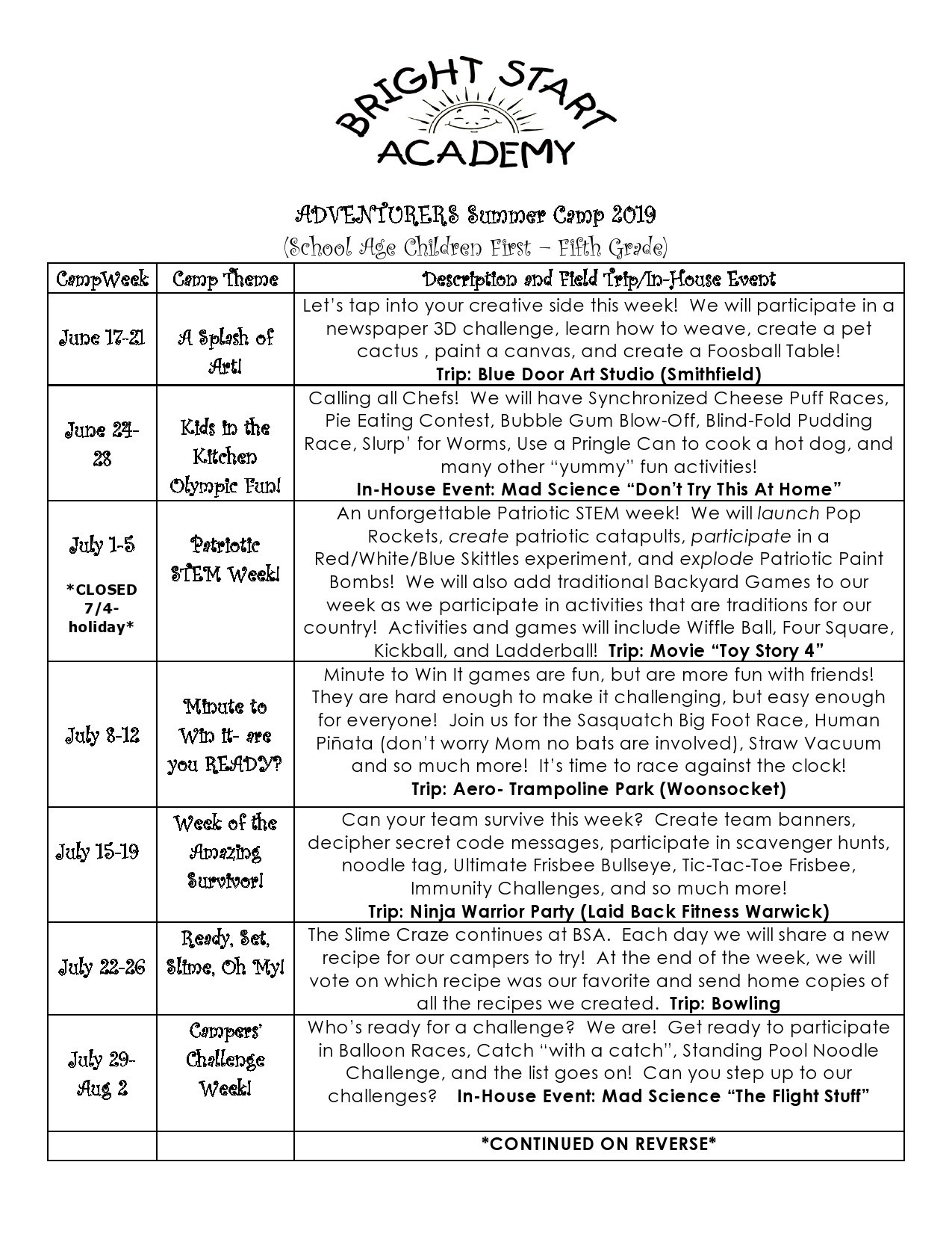 Free summer camp flyer 28