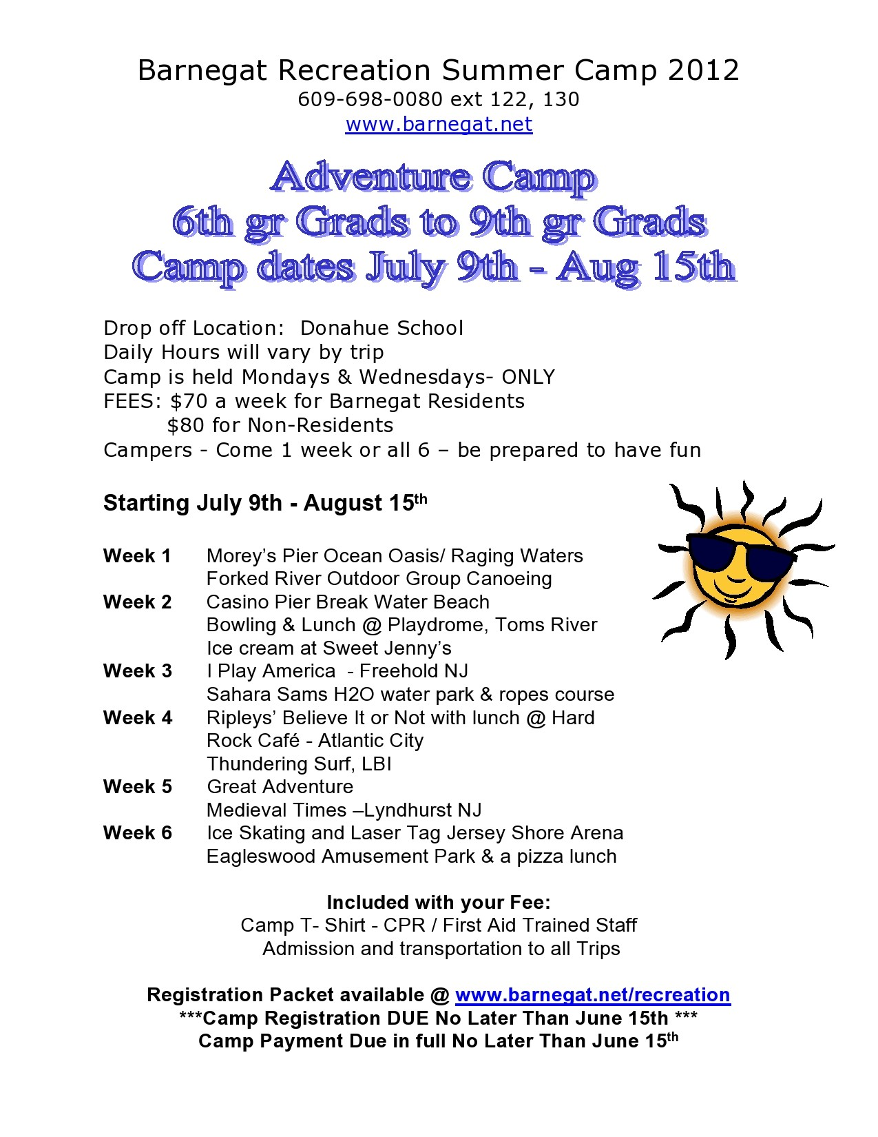 Free summer camp flyer 33