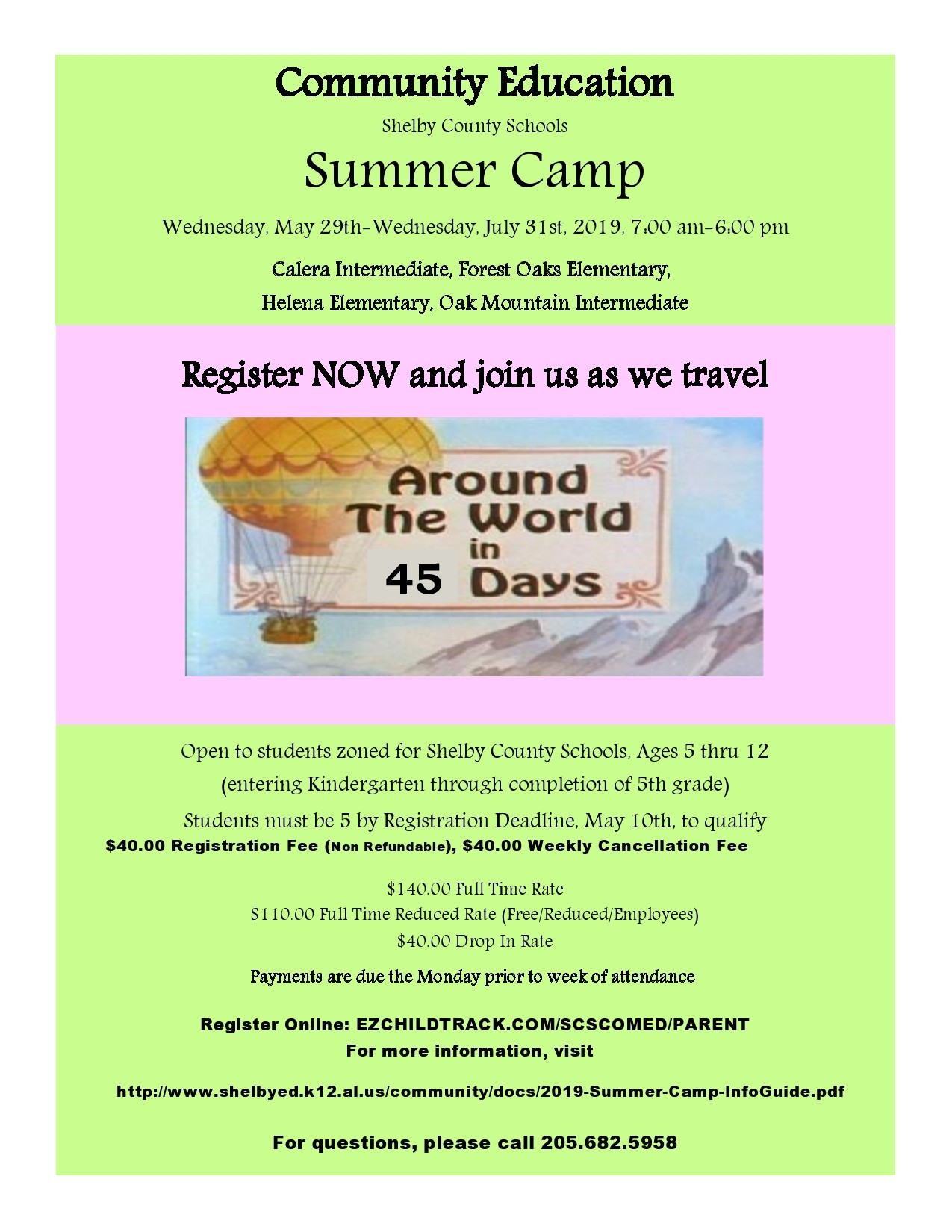 Free summer camp flyer 34