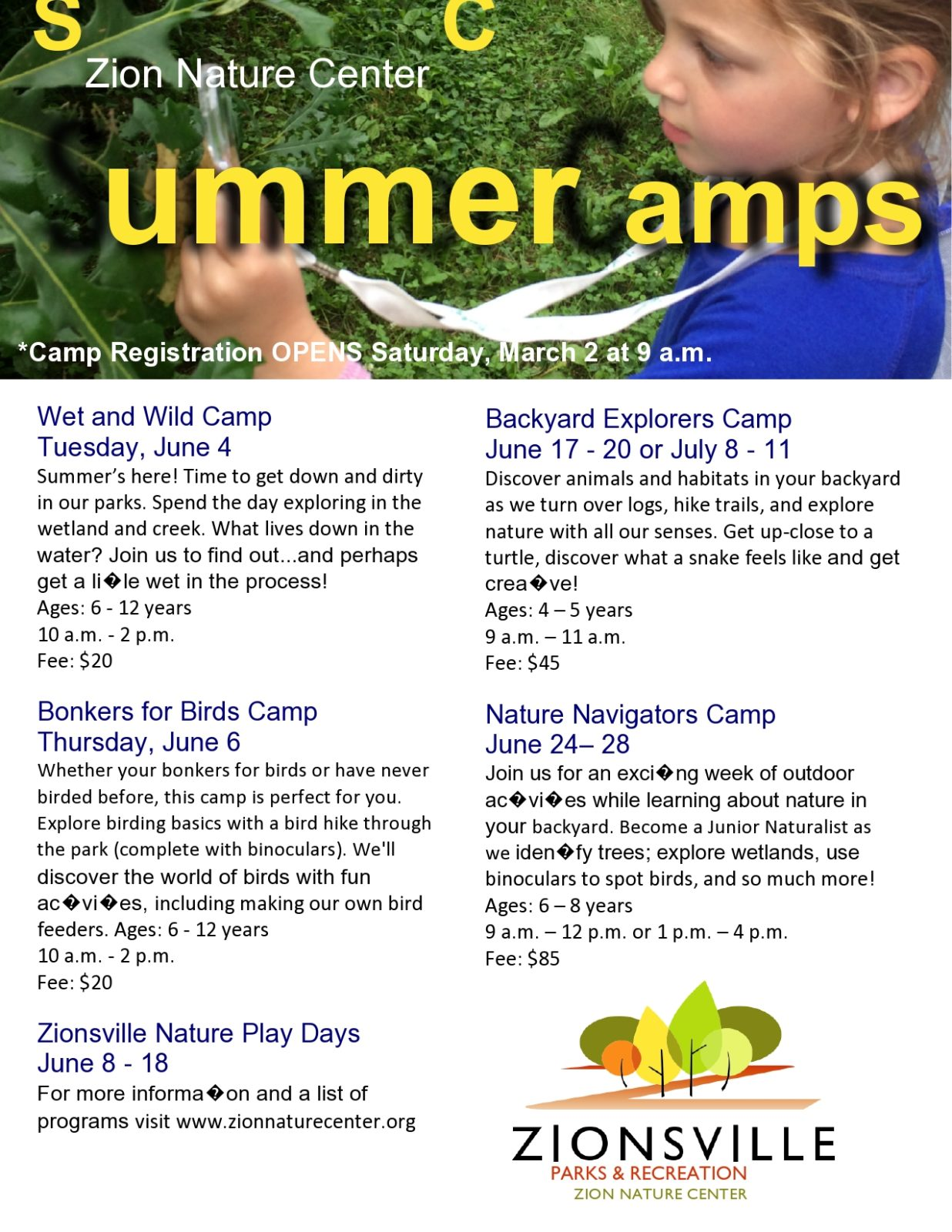Free summer camp flyer 40
