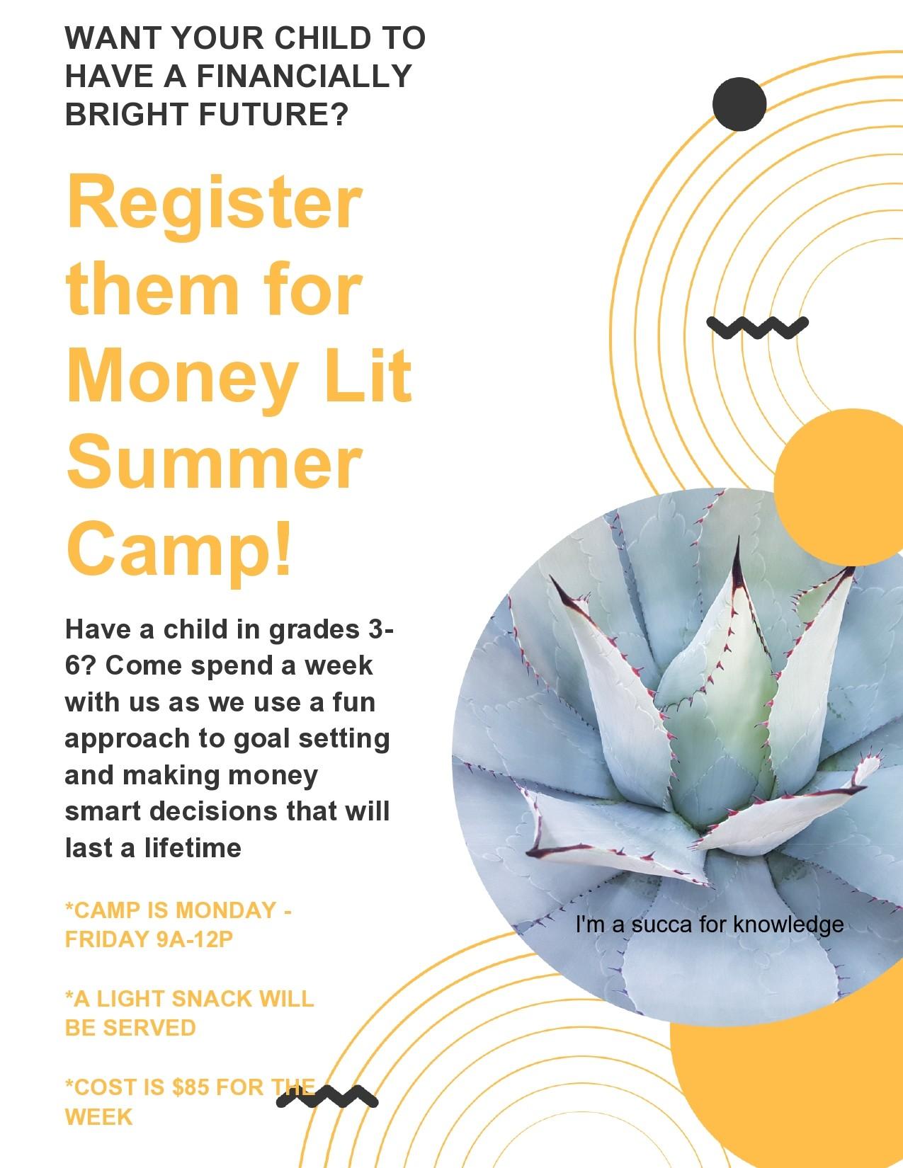 Free summer camp flyer 43