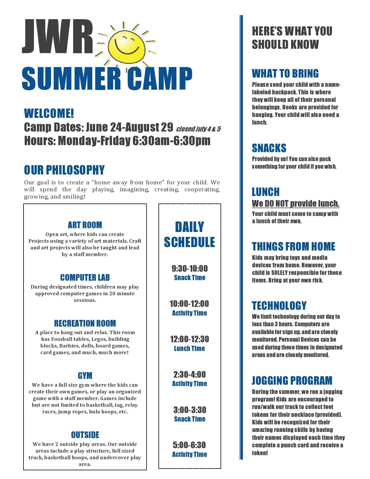 Free summer camp flyer 44