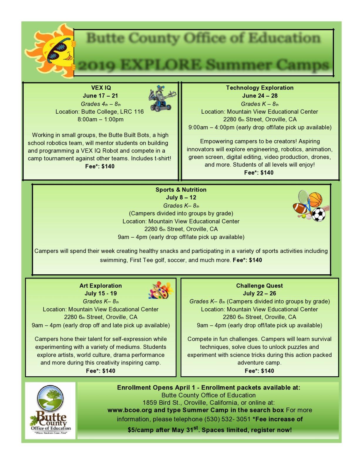 Free summer camp flyer 46