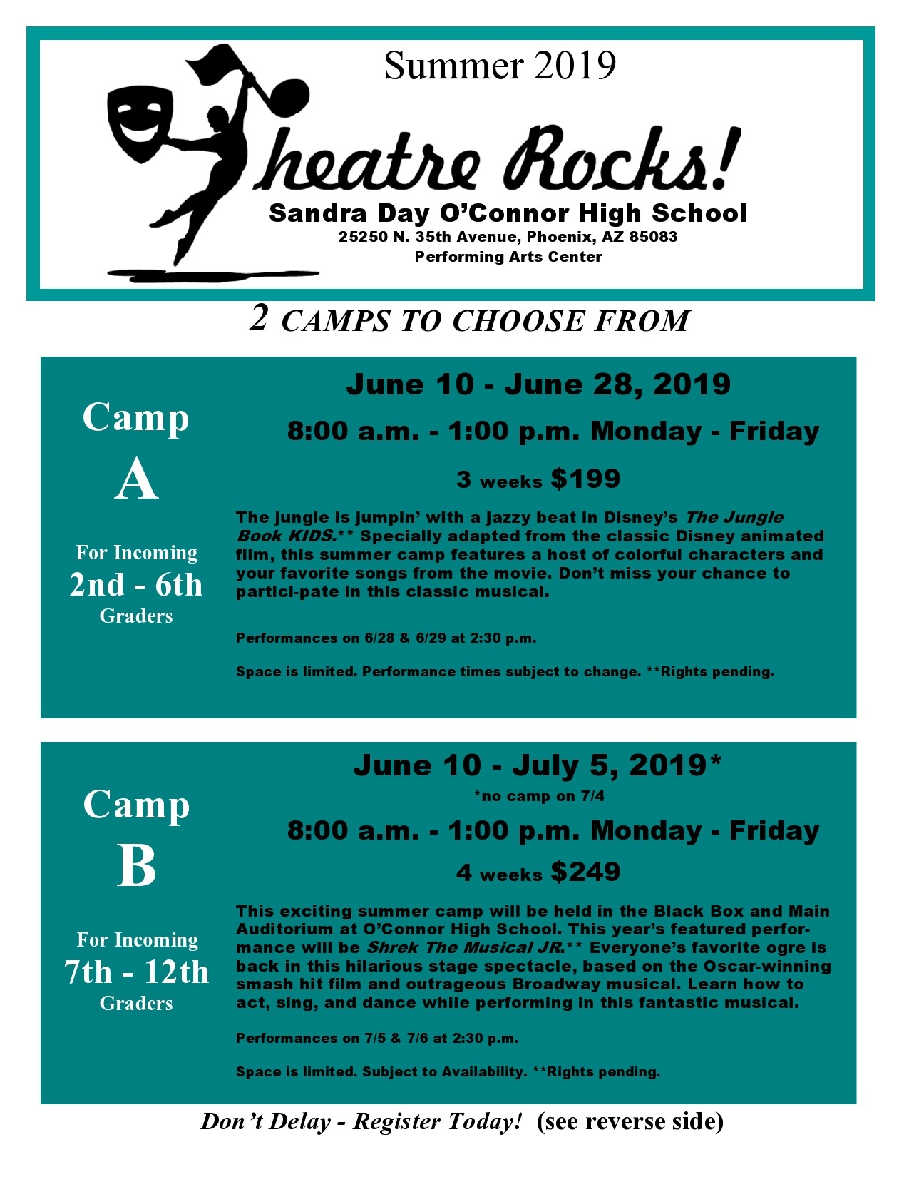 Free summer camp flyer 50