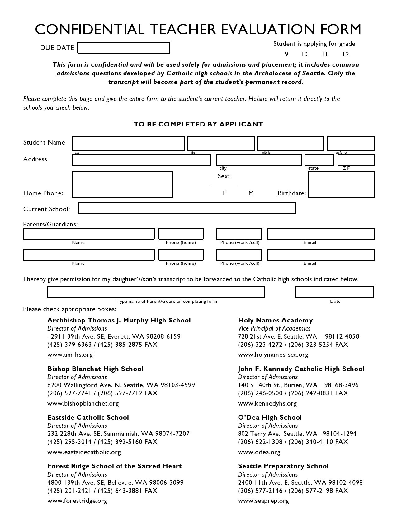 Free teacher evaluation form 10