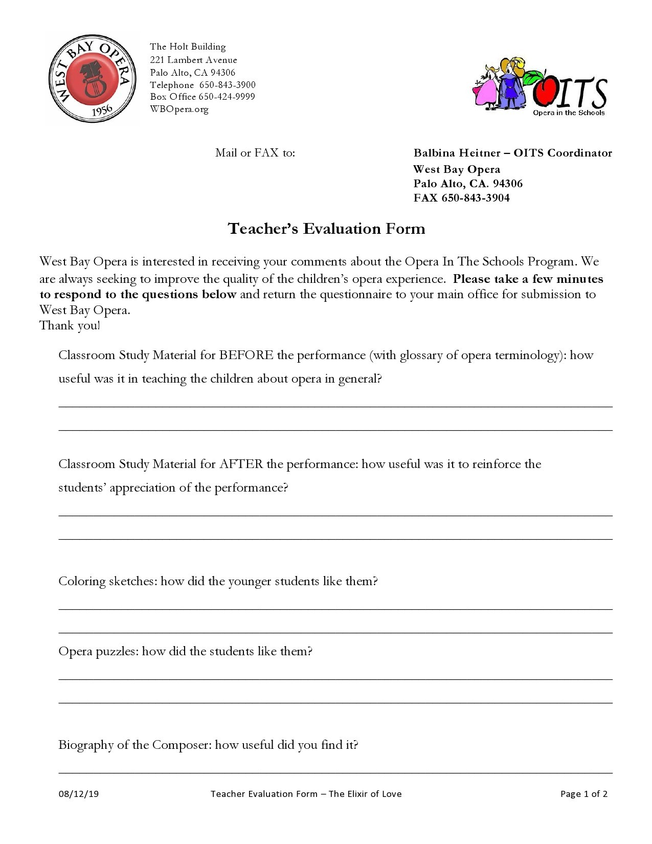Free teacher evaluation form 31