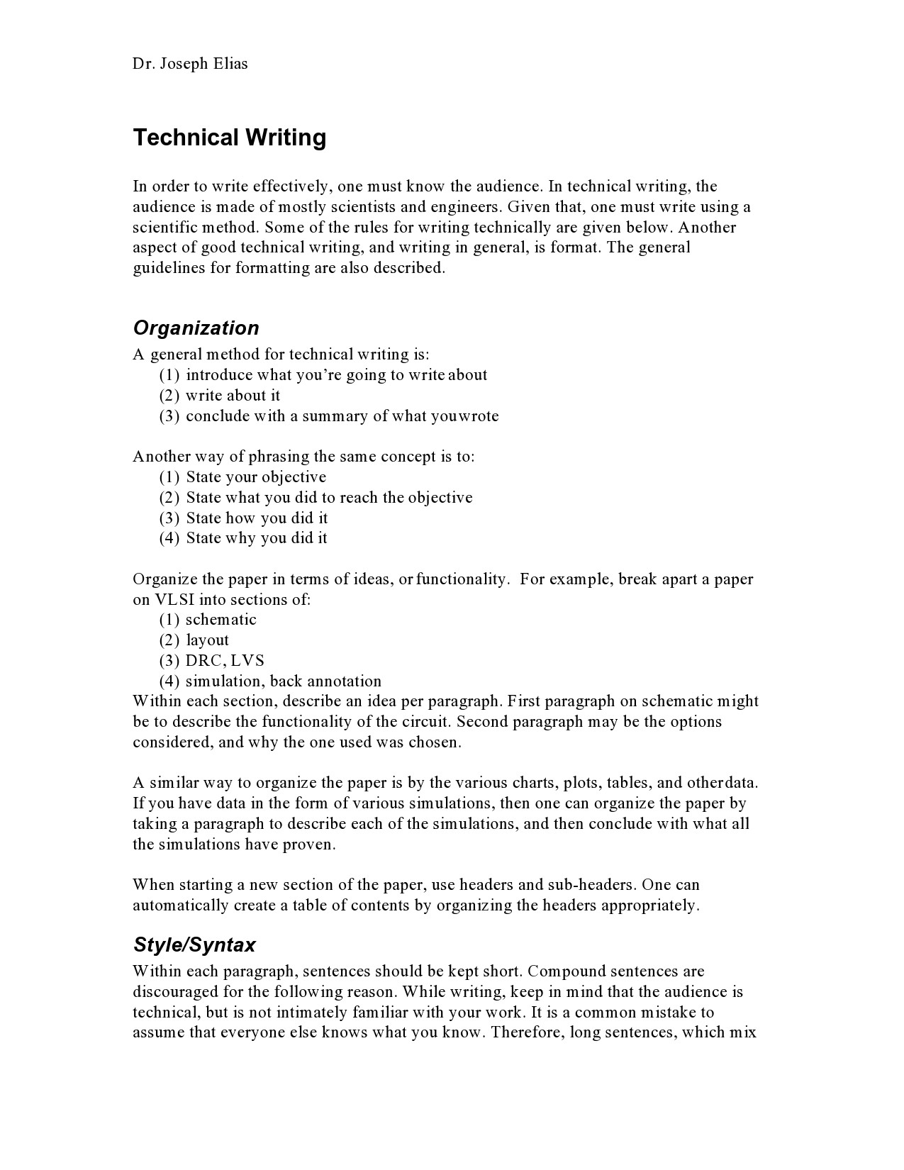 Free technical writing examples 10