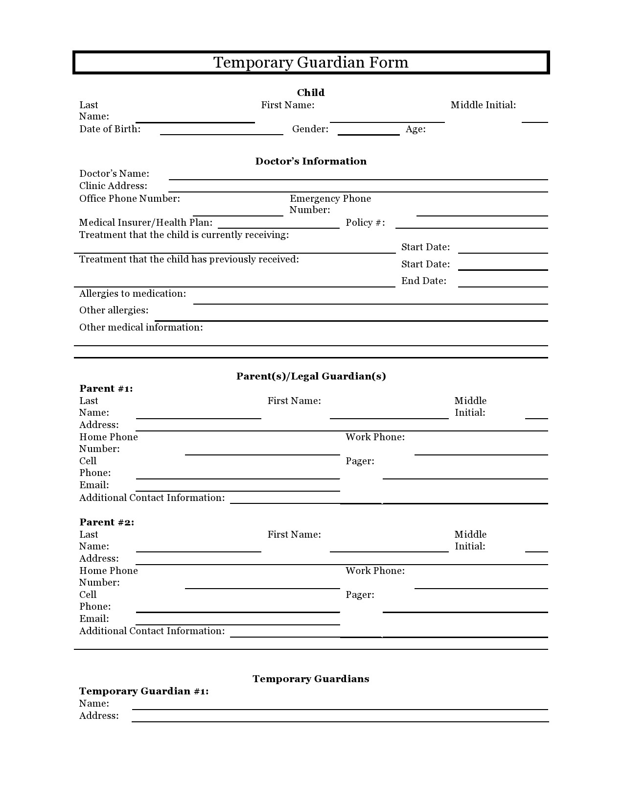 Free Guardianship Letter Template from templatelab.com