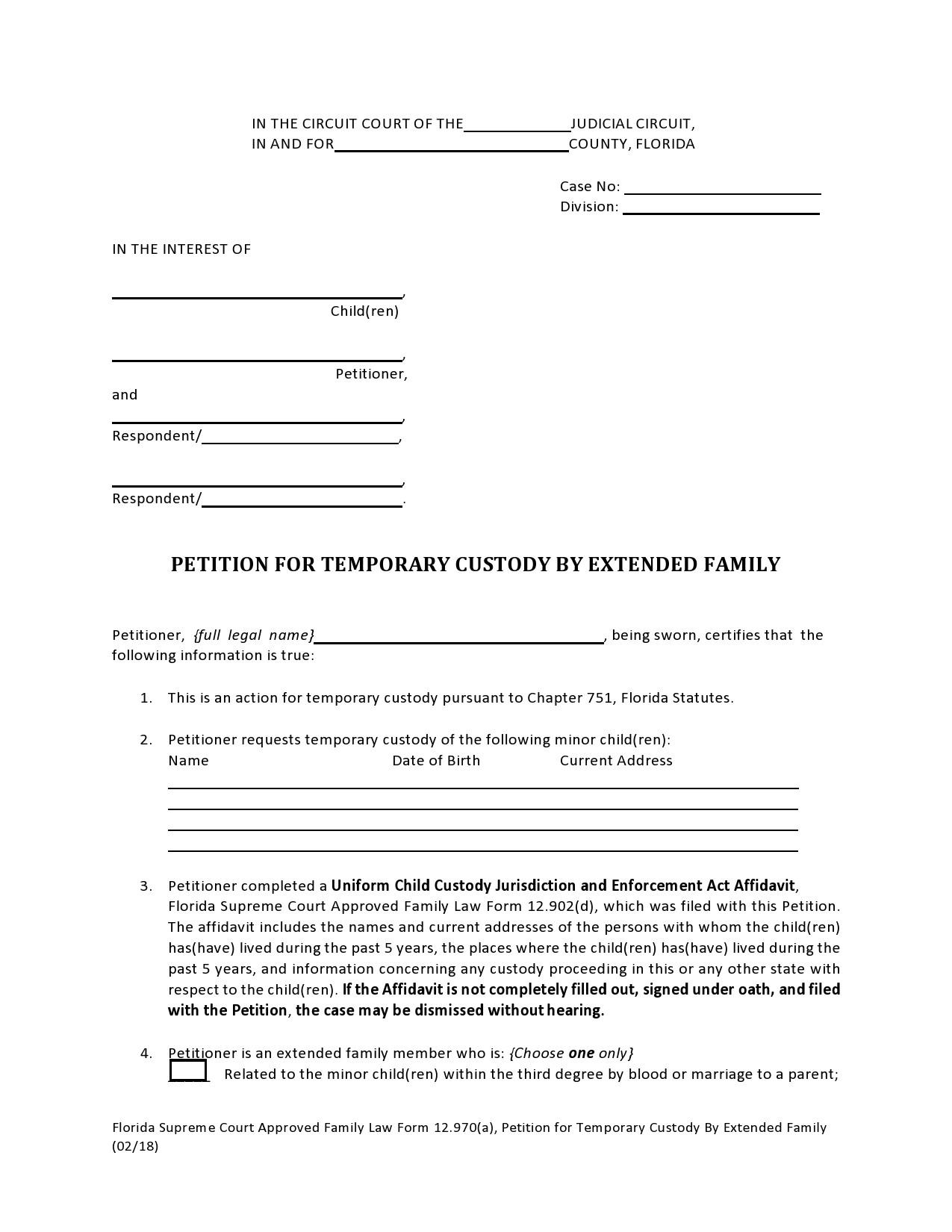 Free temporary guardianship form 05