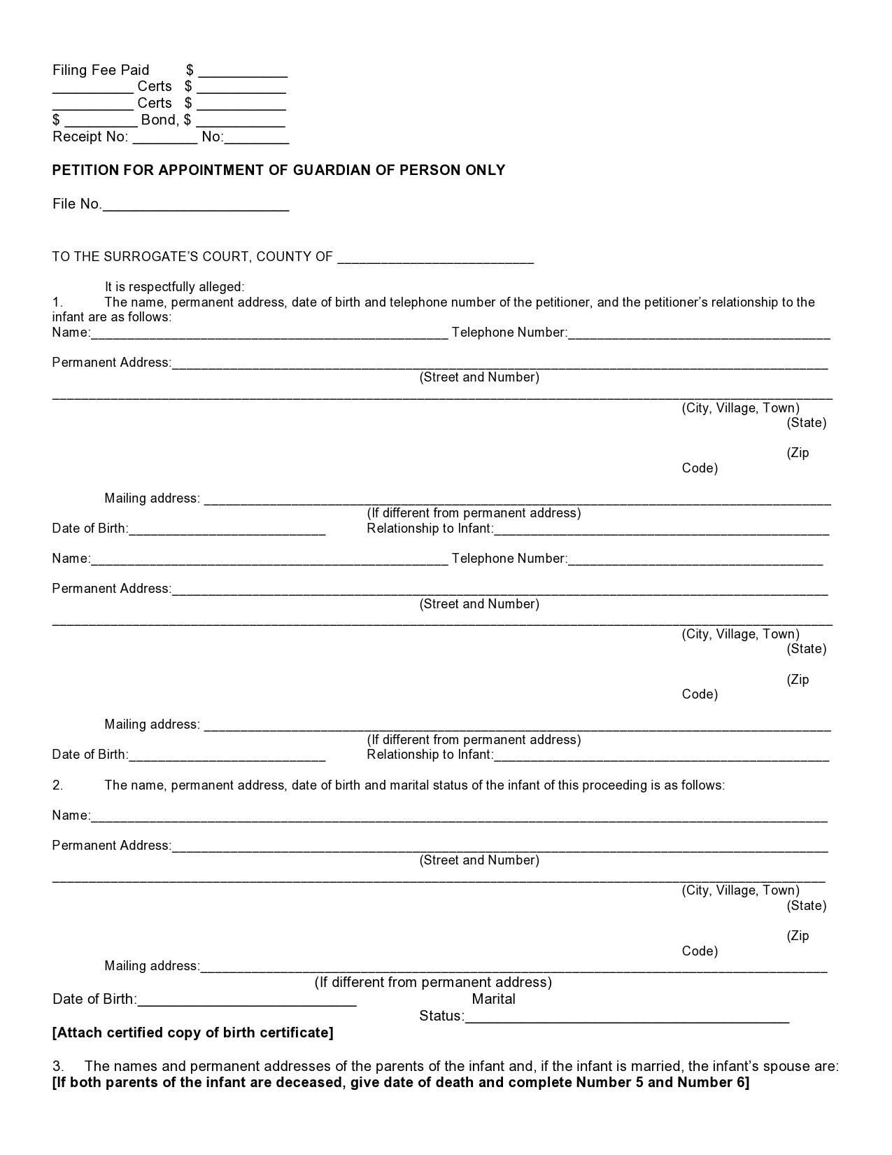 Free temporary guardianship form 12