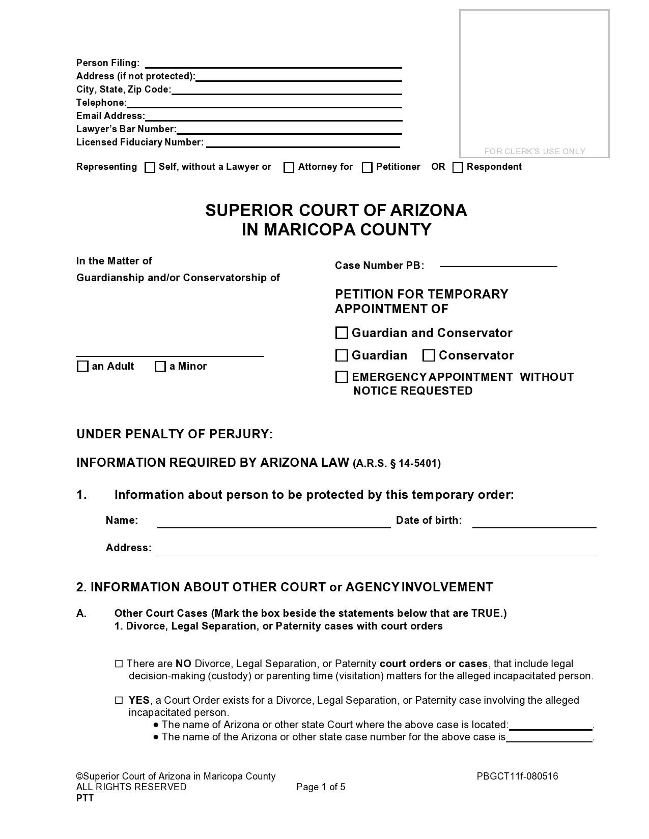 Free temporary guardianship form 15