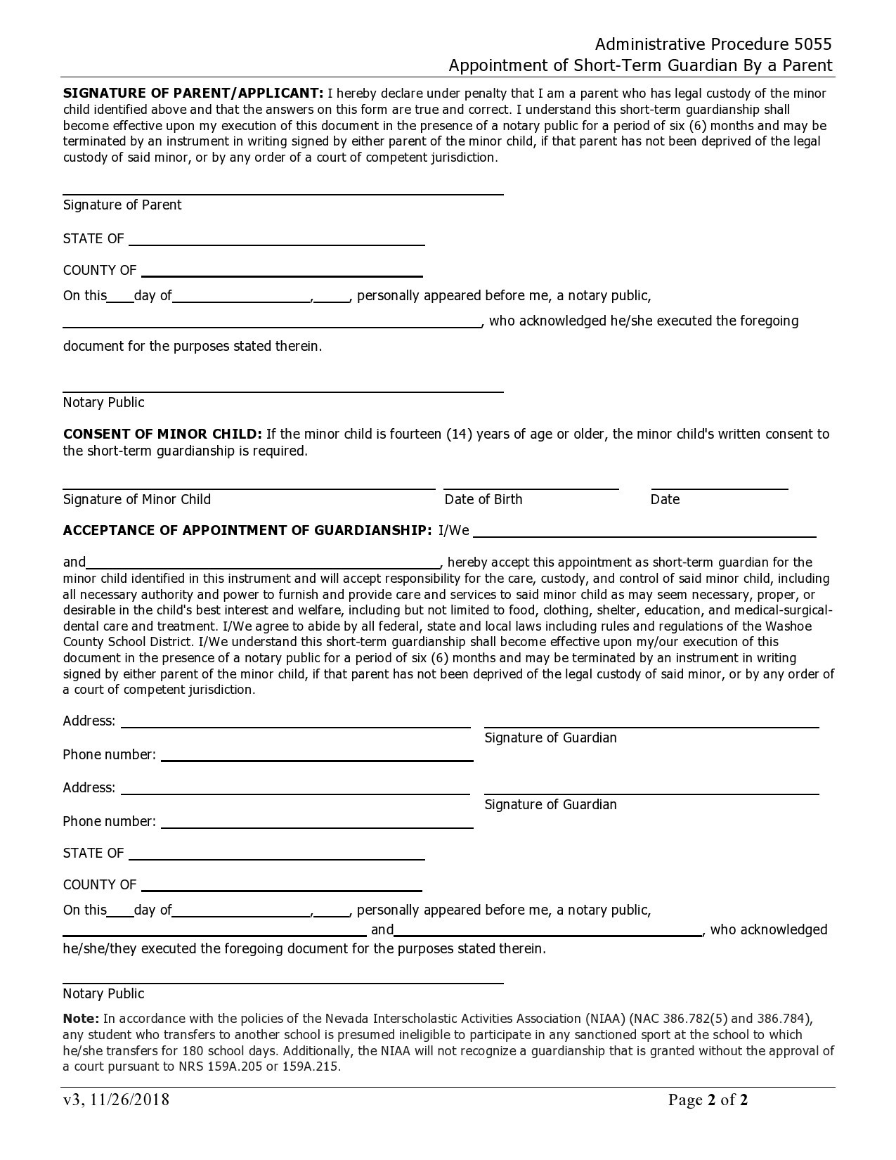 Free temporary guardianship form 38