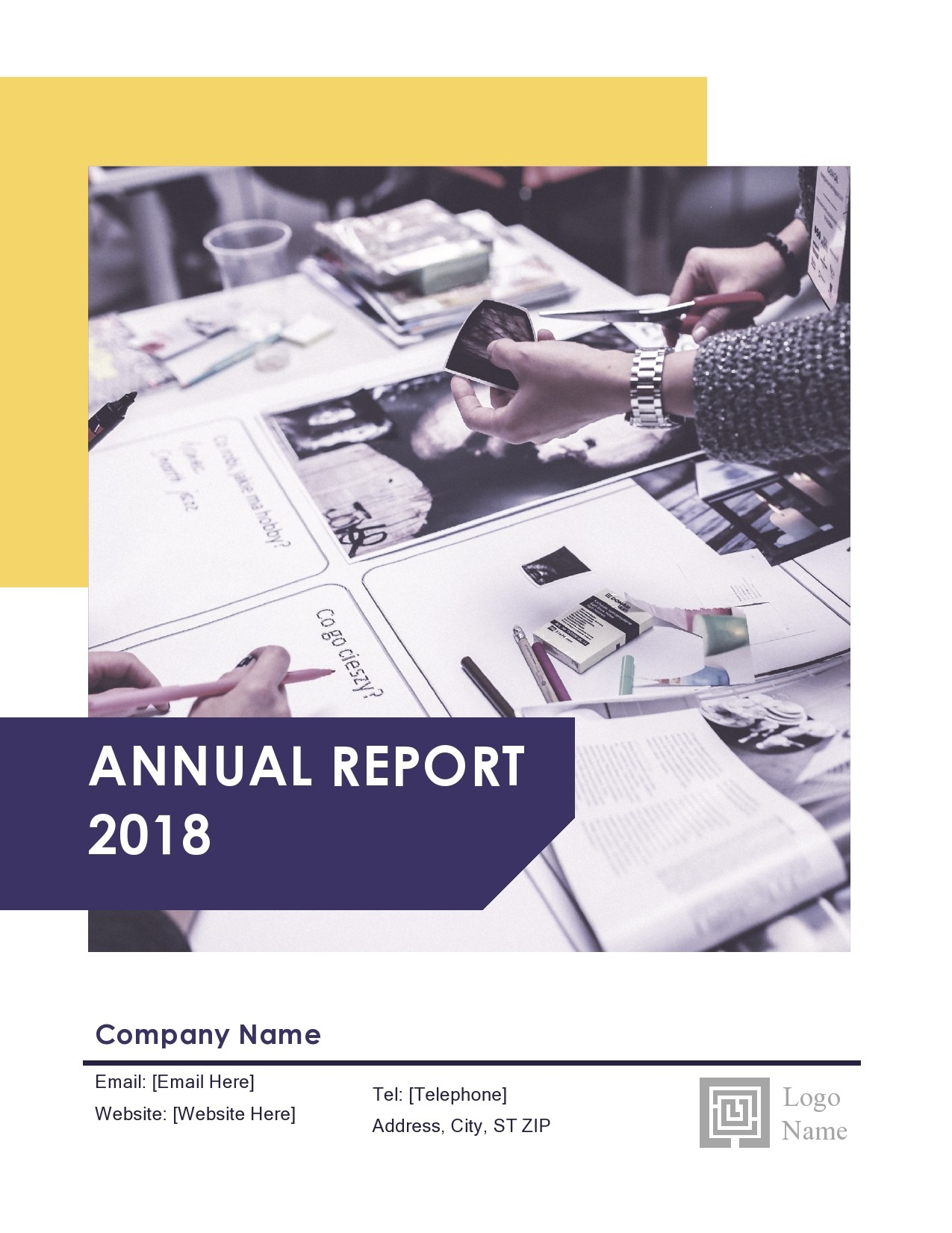 Free annual report template 01