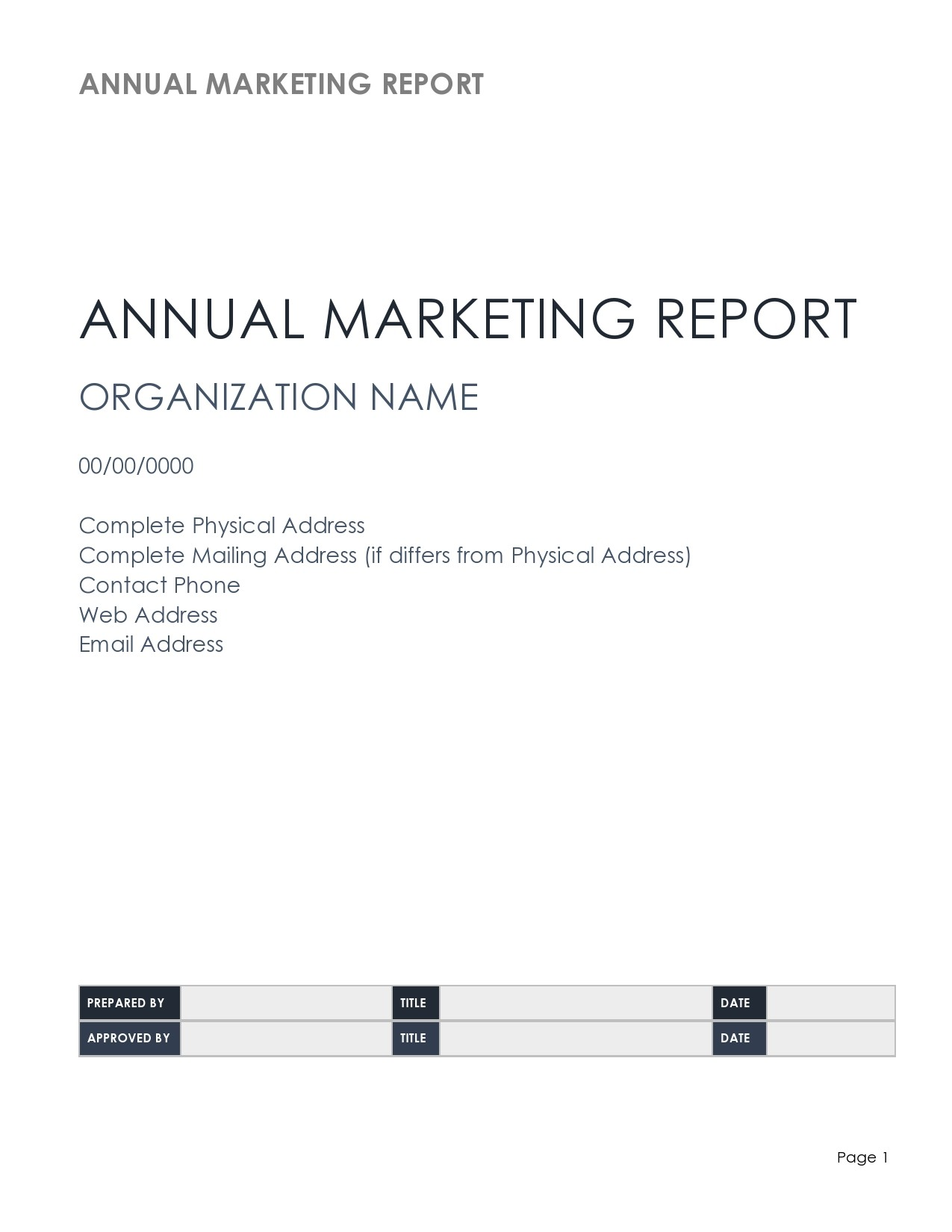 Free annual report template 02